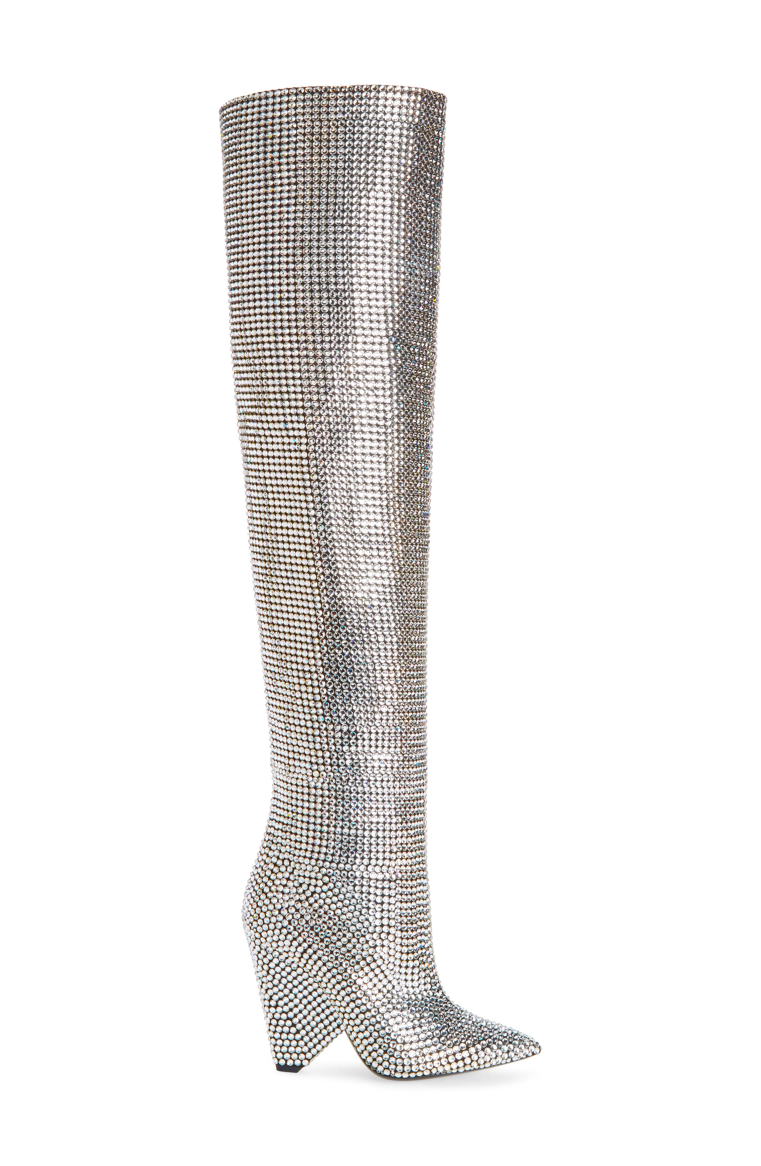 Niki Crystal Embellished Boot,                             Alternate thumbnail 4, color,                             040