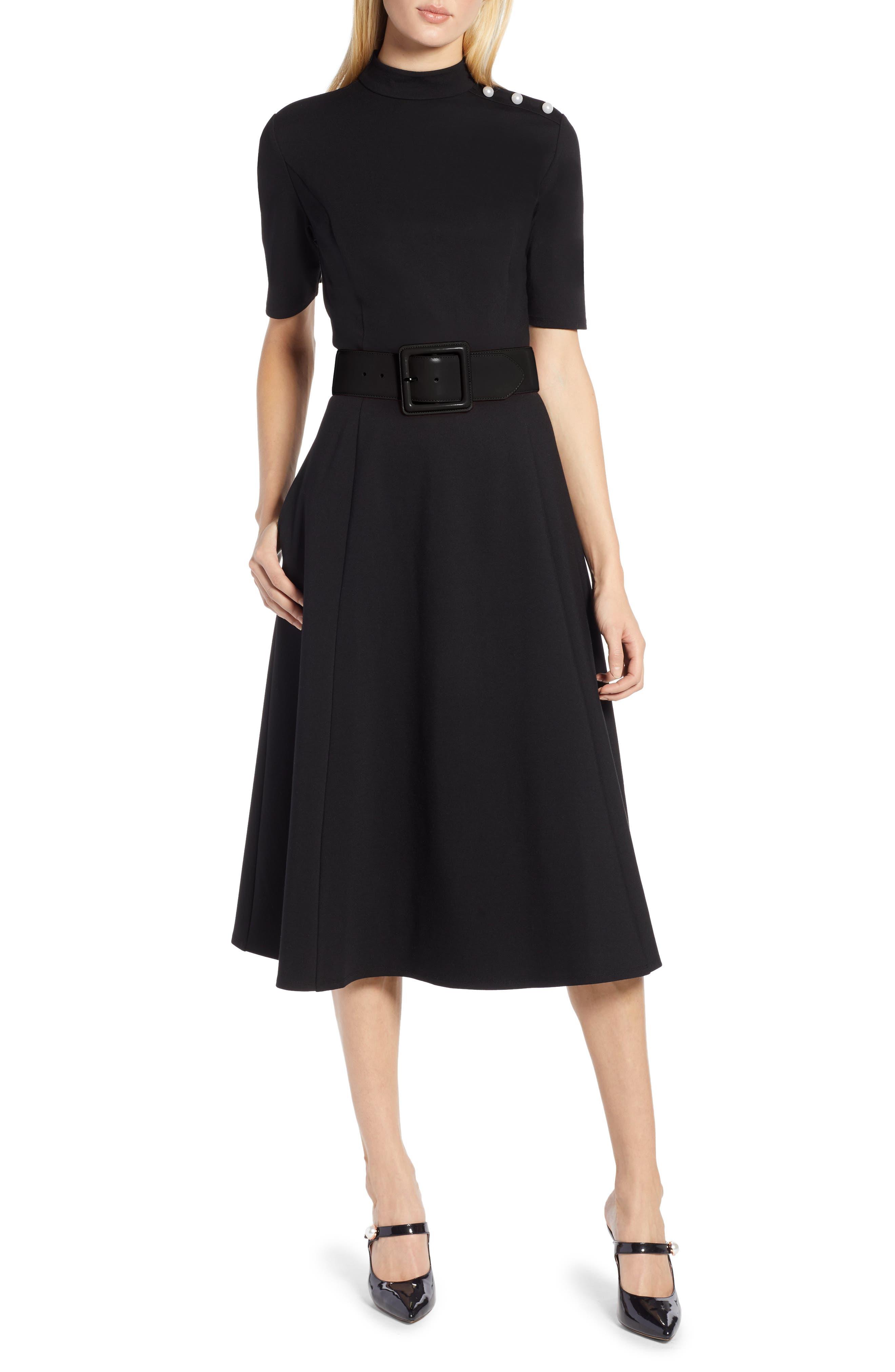 x Atlantic-Pacific Stretch Ponte Dress, Main, color, 001
