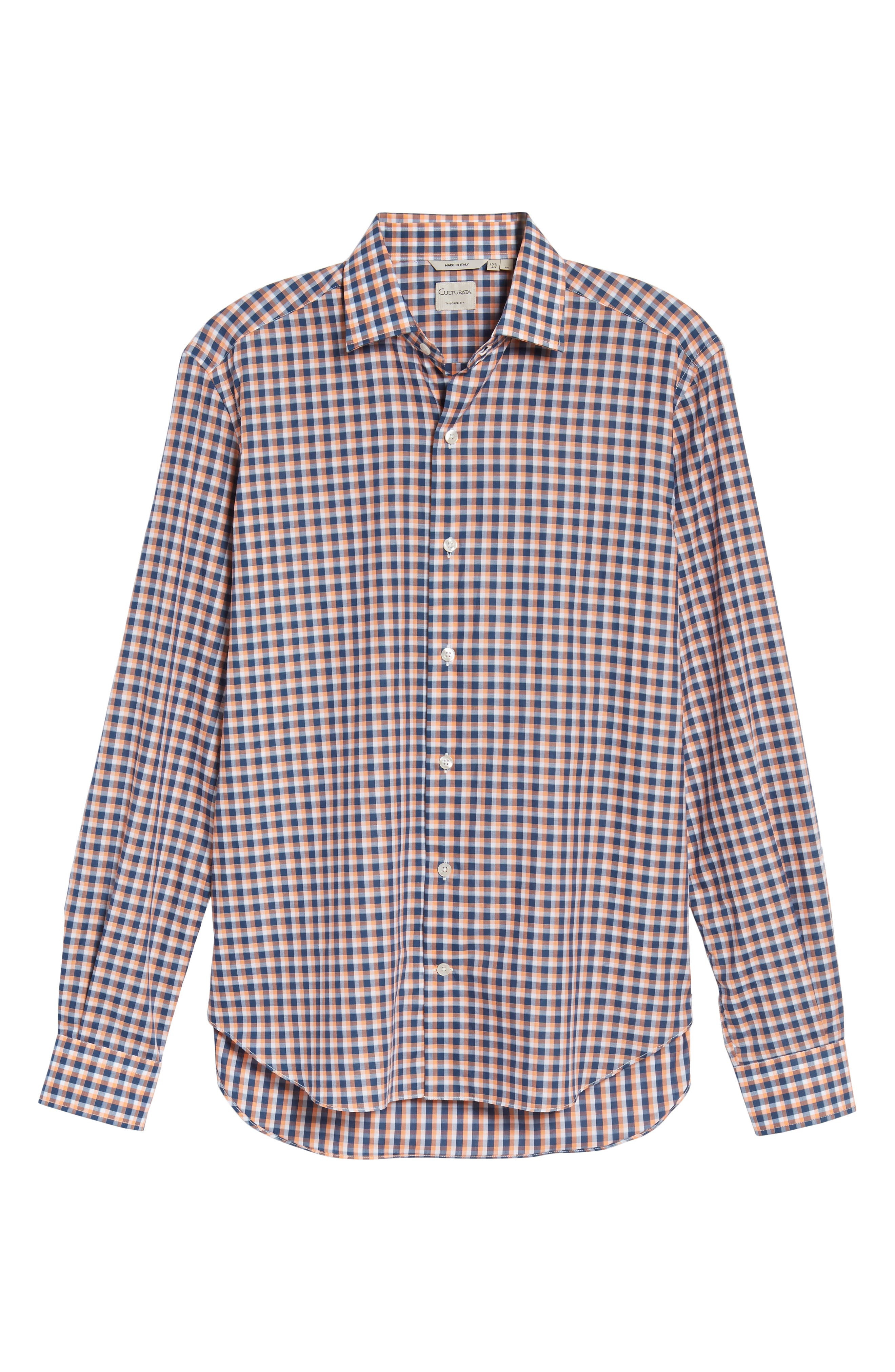 Slim Fit Check Twill Sport Shirt,                             Alternate thumbnail 6, color,                             800