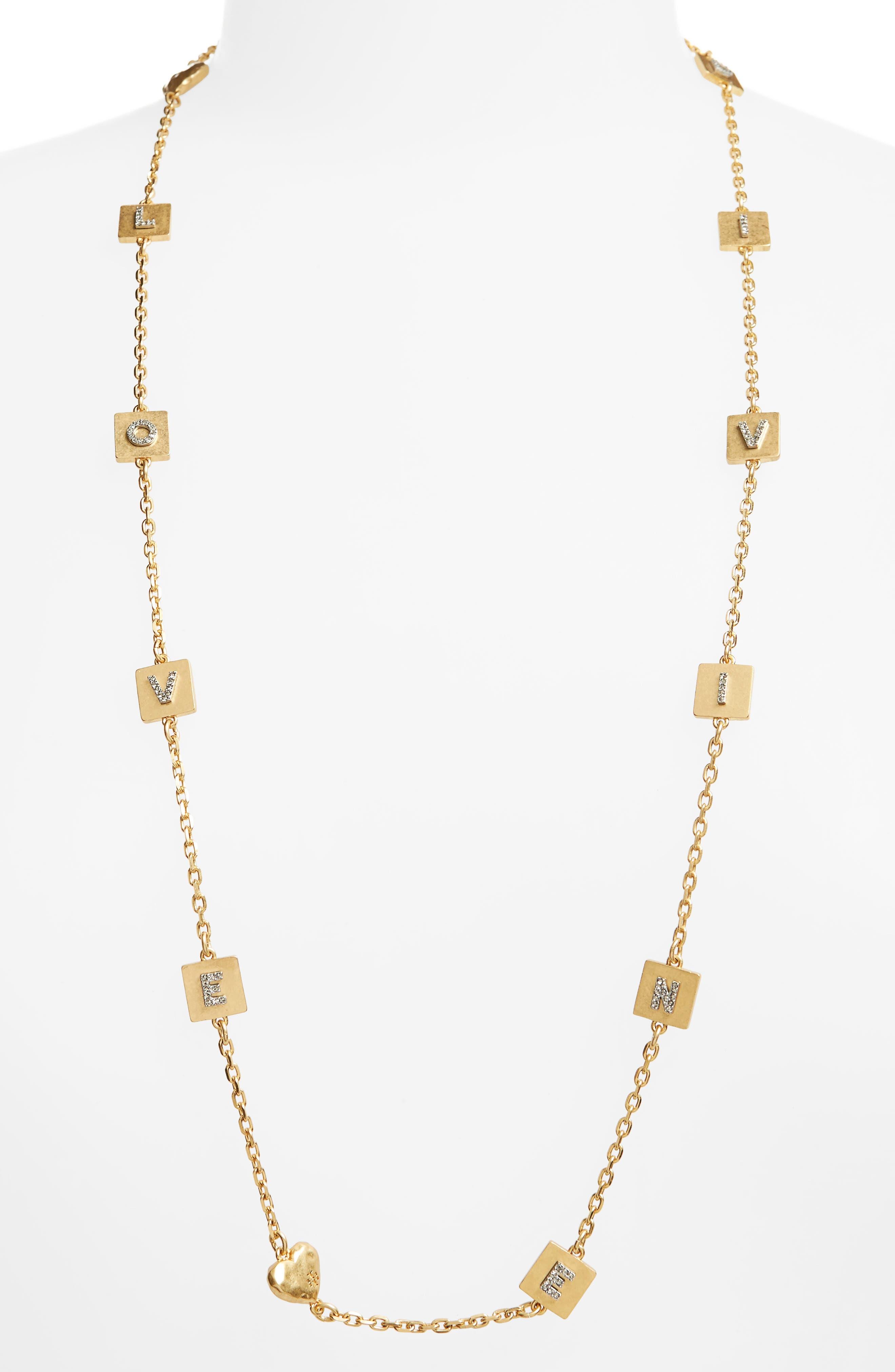 Love & Divine Message Necklace,                         Main,                         color, 710