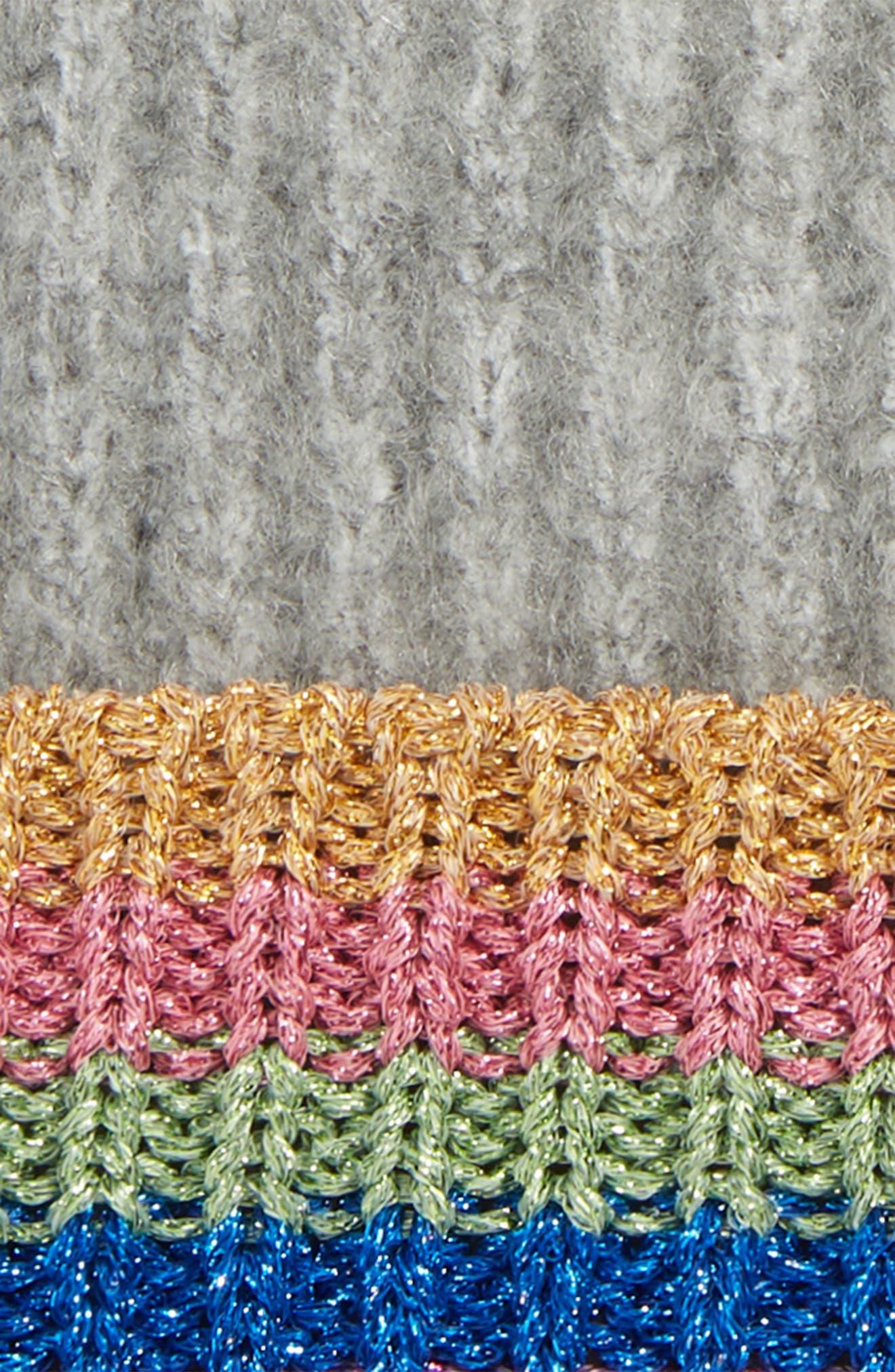 Rainbow Beanie Hat,                             Alternate thumbnail 2, color,                             GREY