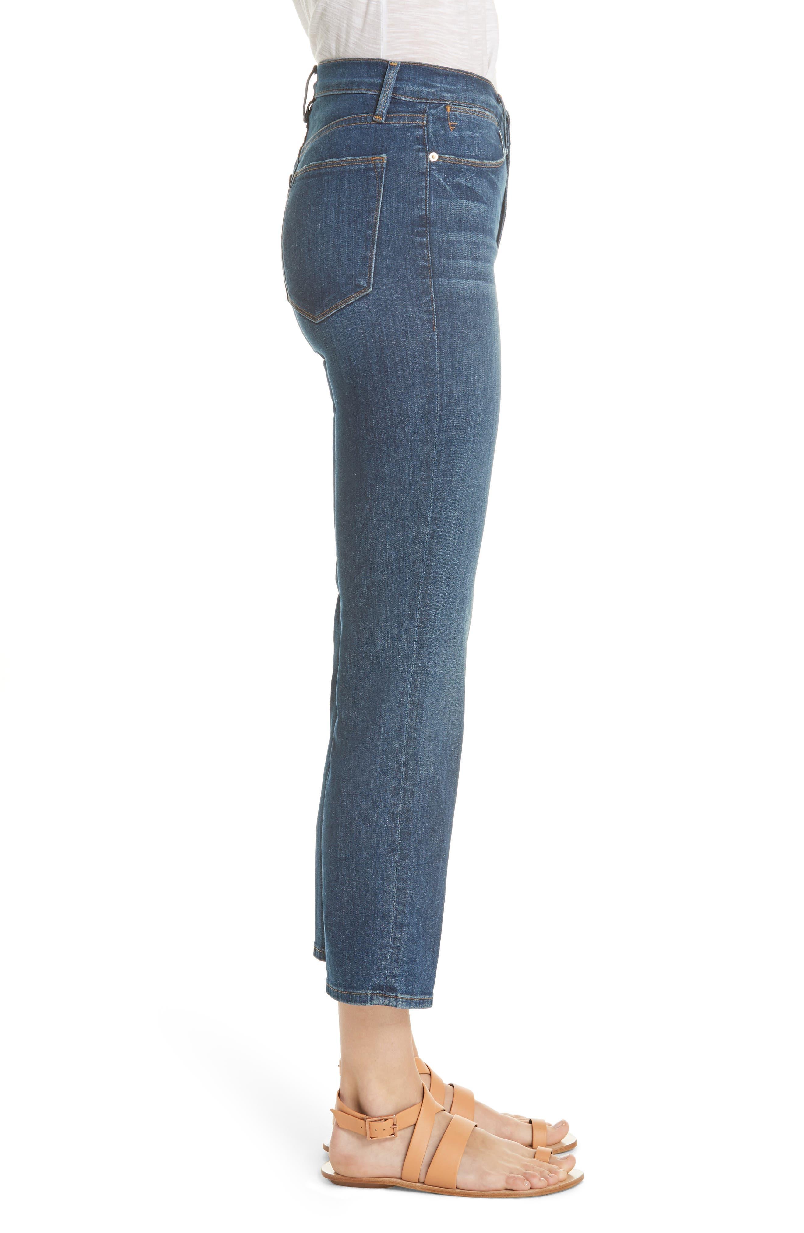 Le High Straight Leg Jeans,                             Alternate thumbnail 3, color,                             YORK