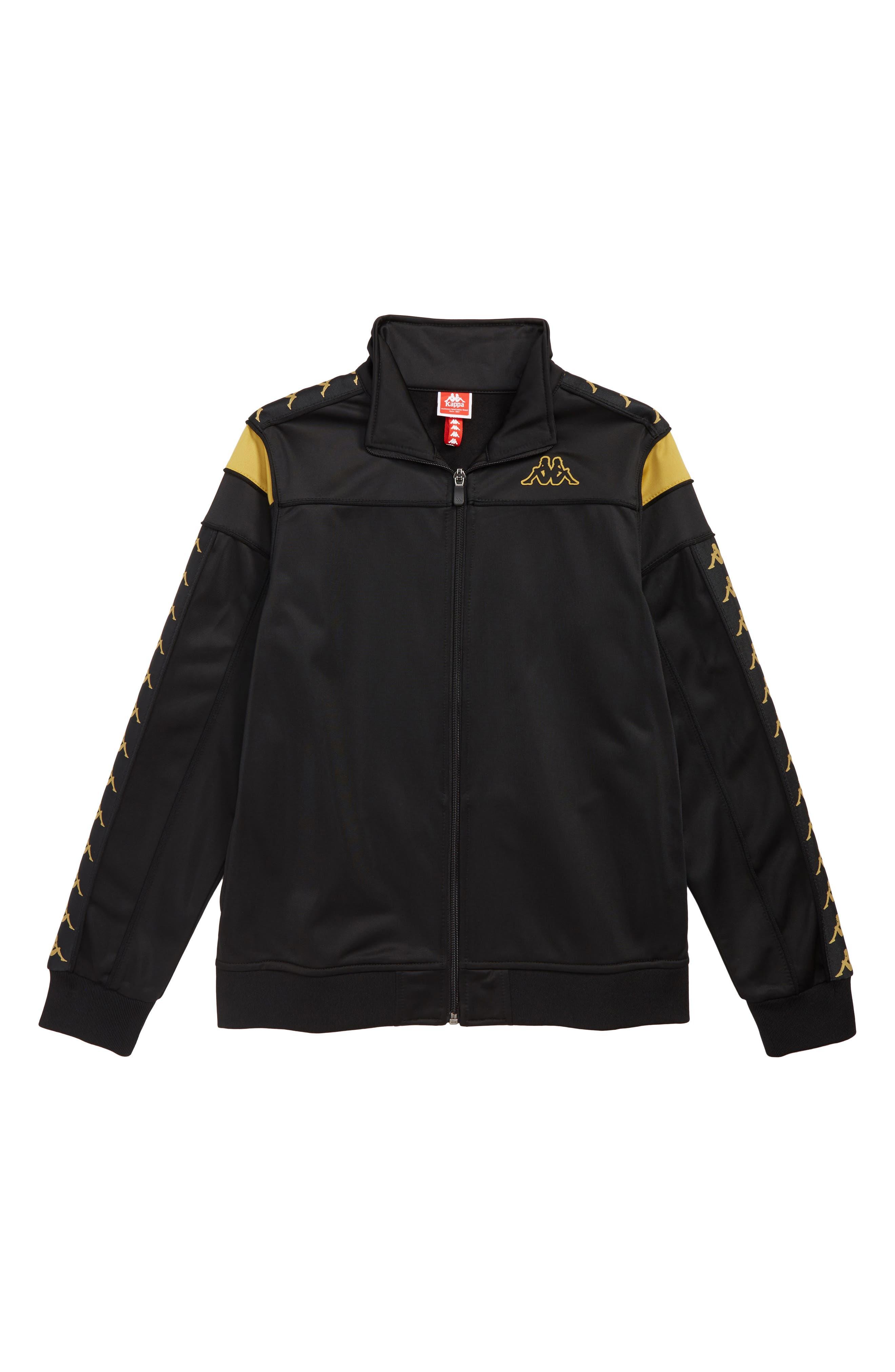 Banda Merez Slim Track Jacket,                             Main thumbnail 1, color,                             BLACK GOLD