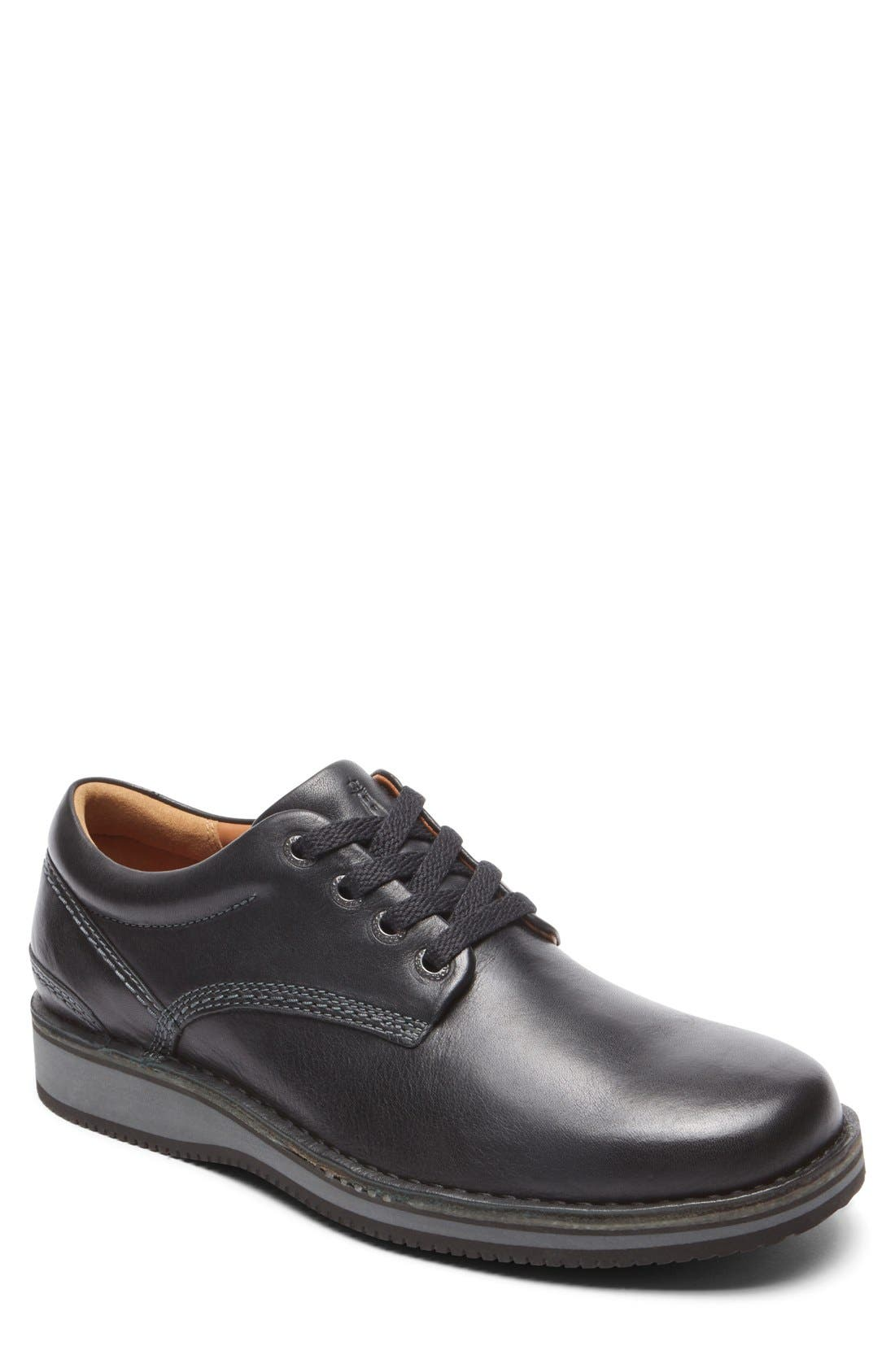 'Prestige Point' Plain Toe Derby,                         Main,                         color, 001