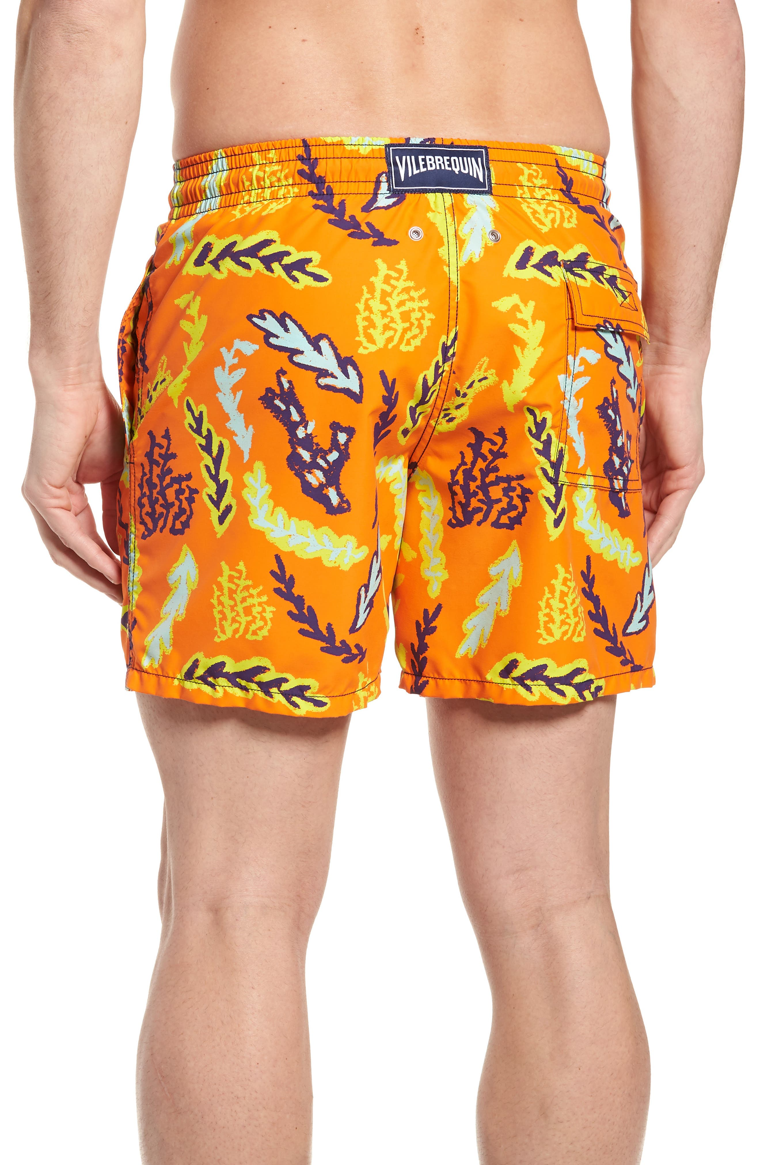 Solar Seaweed Print Swim Trunks,                             Alternate thumbnail 2, color,                             812