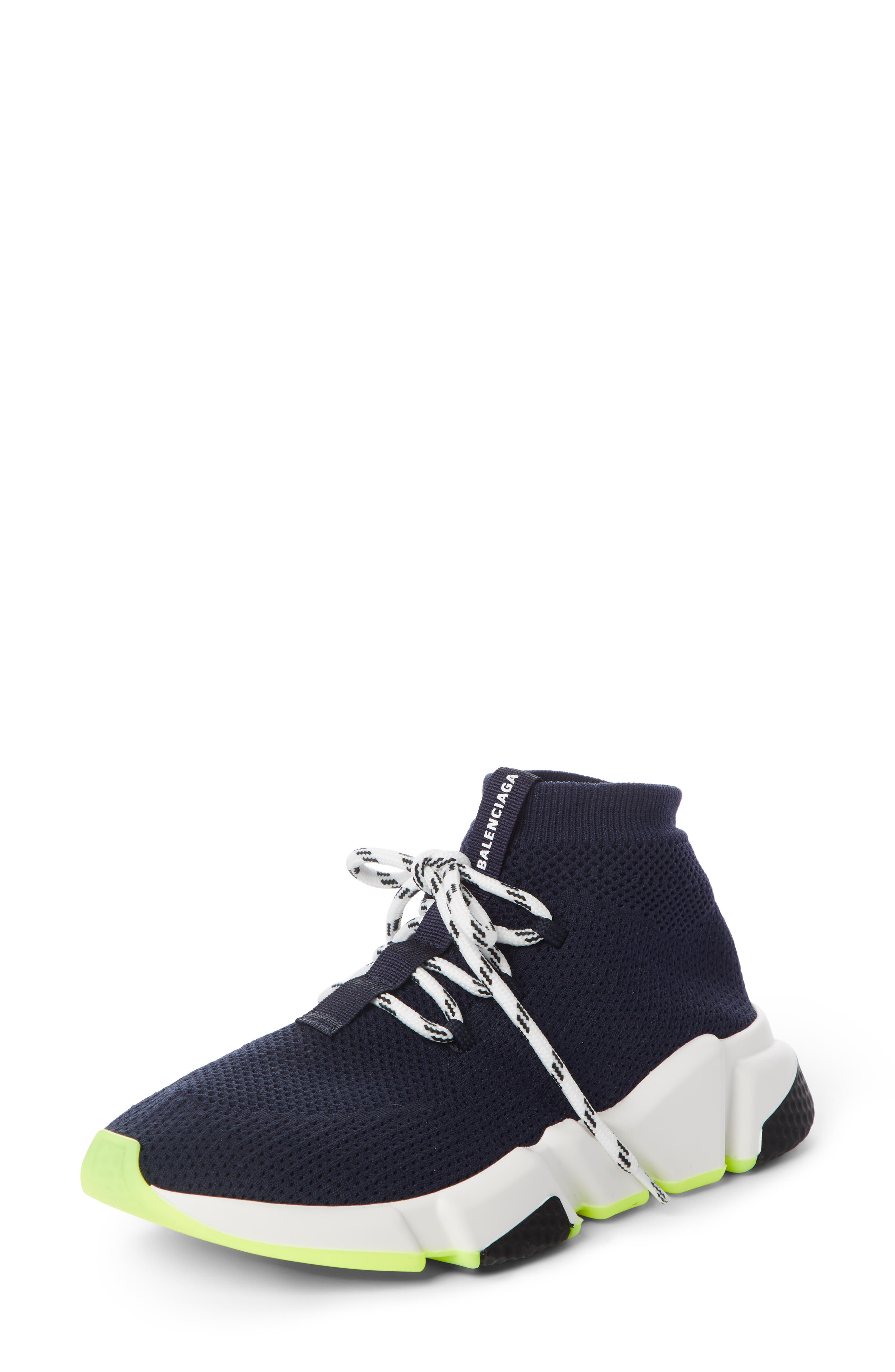 Mid Speed Lace-Up Sneaker in Blue Marine
