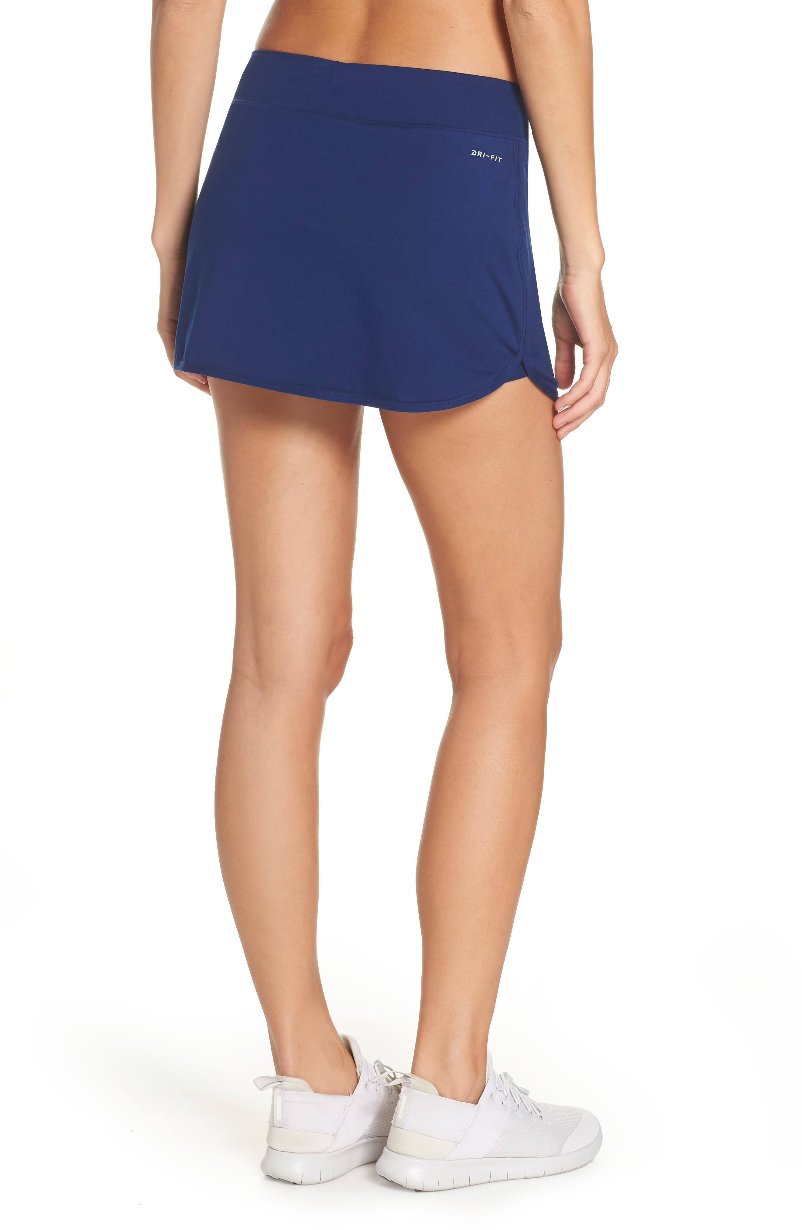 'Pure' Dri-FIT Tennis Skirt,                             Alternate thumbnail 2, color,                             BLUE VOID/ WHITE