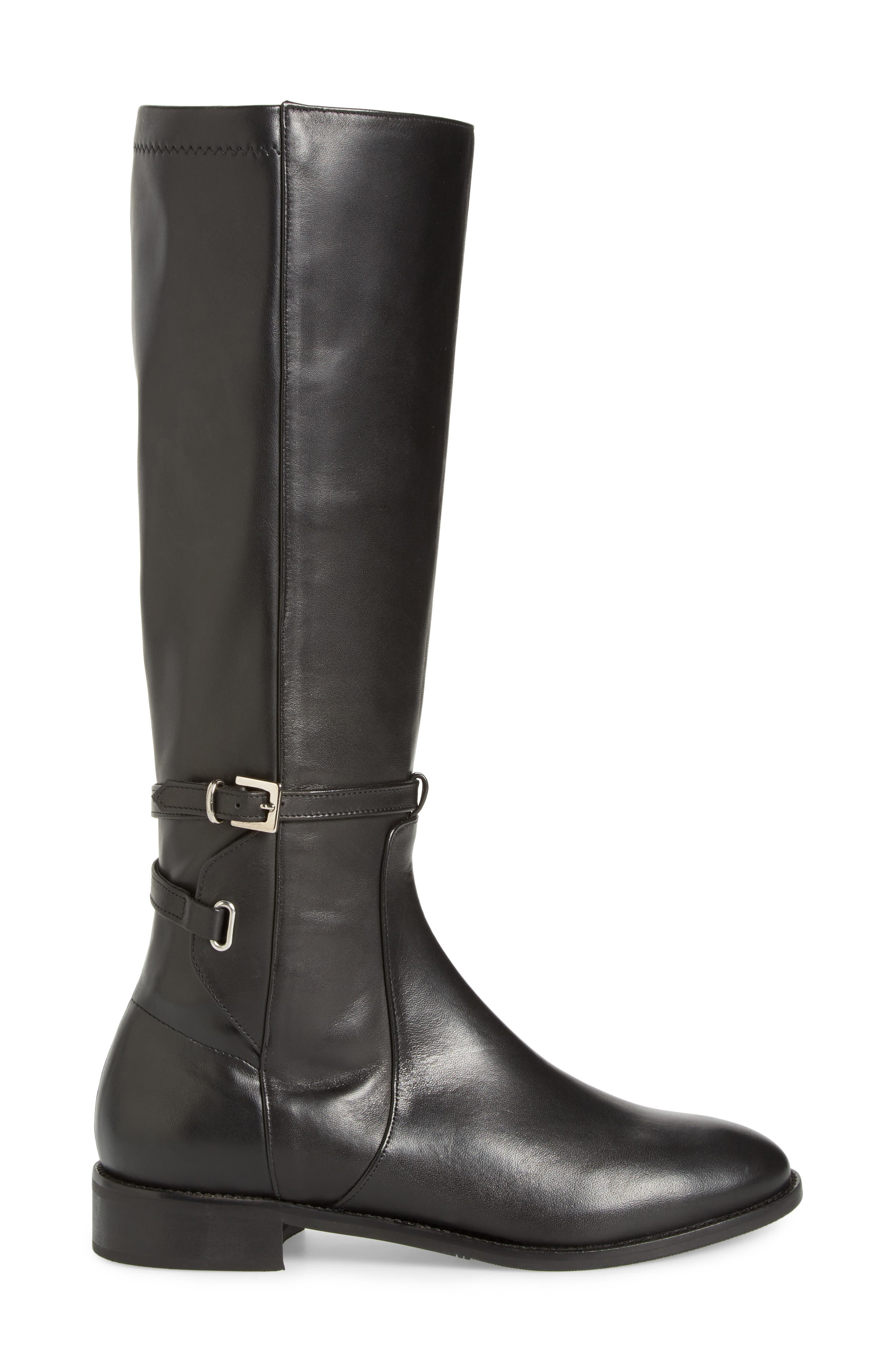 Royce Stretch Back Riding Boot,                             Alternate thumbnail 3, color,                             001