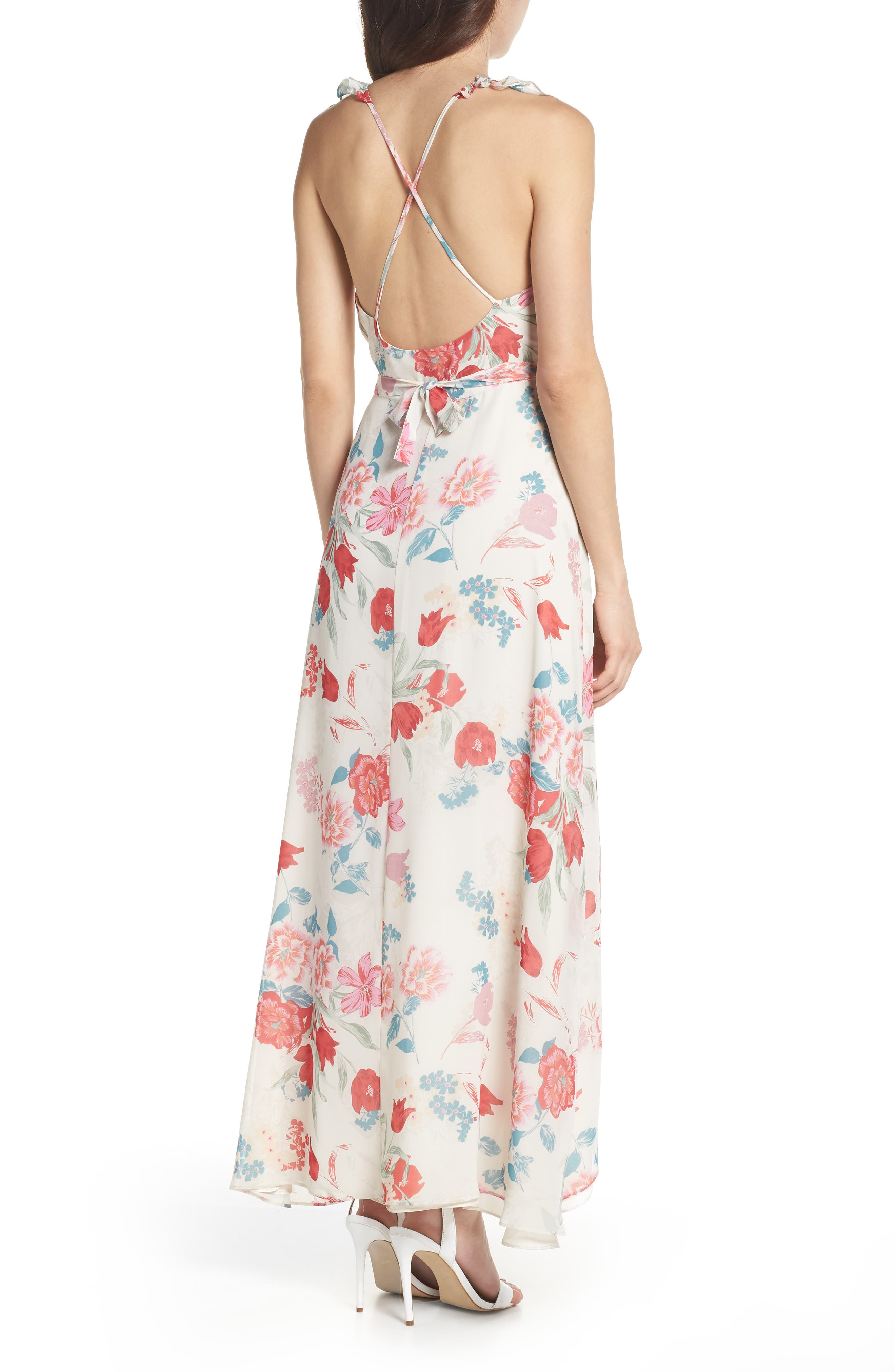 RSVP High/Low Wrap Dress,                             Alternate thumbnail 2, color,                             900
