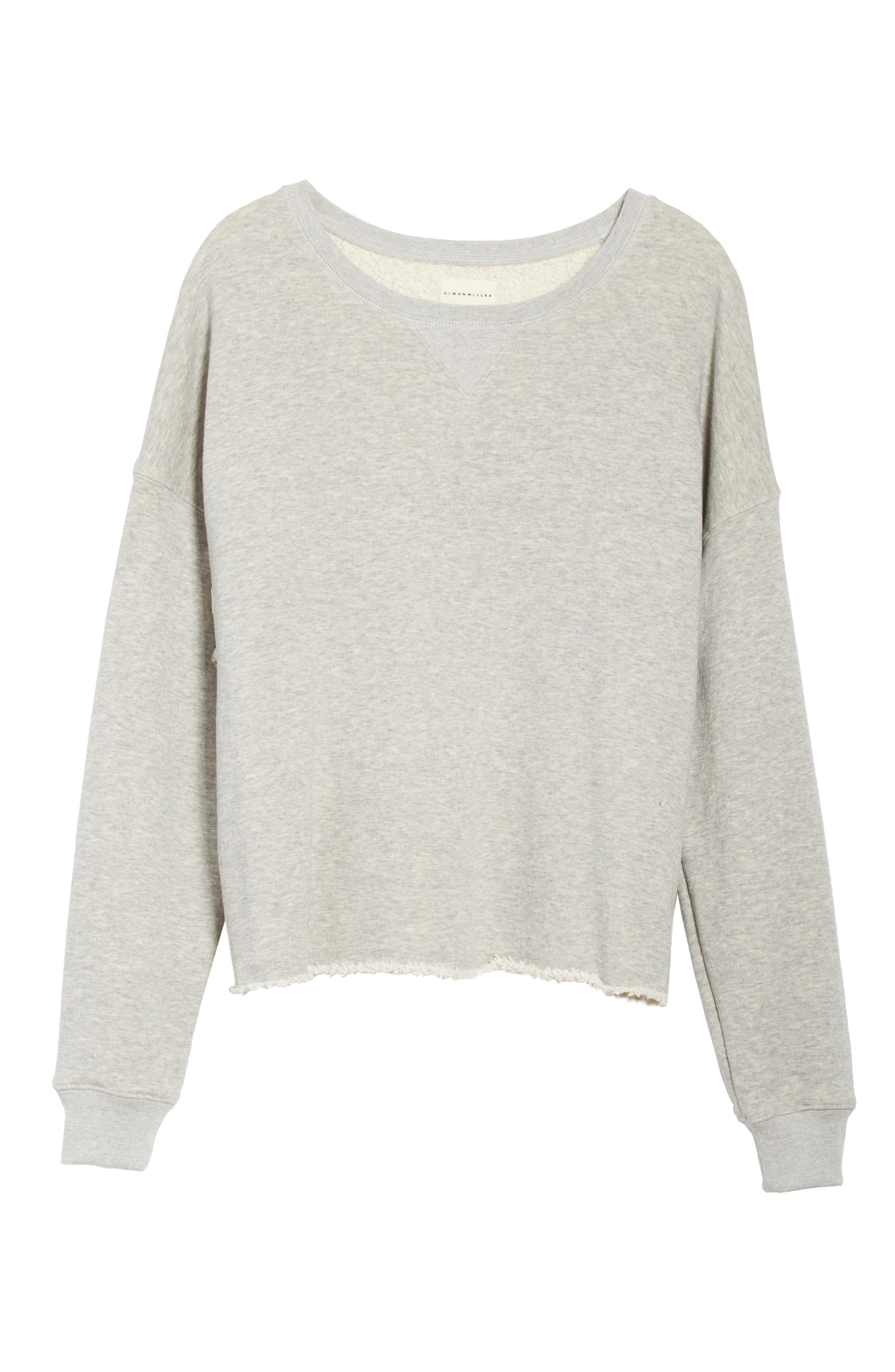 Brushed Terry Sweatshirt,                             Alternate thumbnail 6, color,                             020