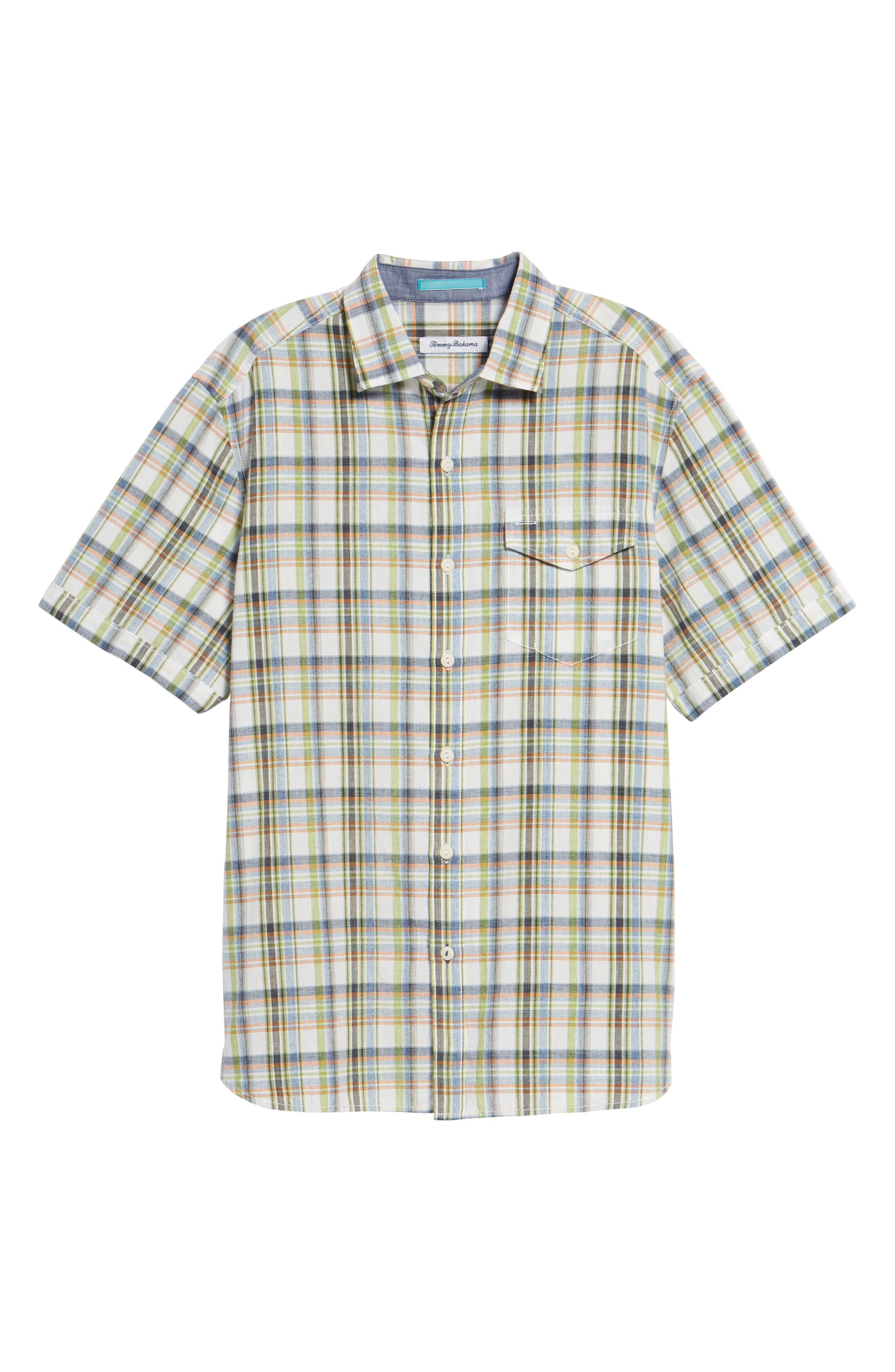 Ocean Cay Plaid Sport Shirt,                             Alternate thumbnail 6, color,                             300