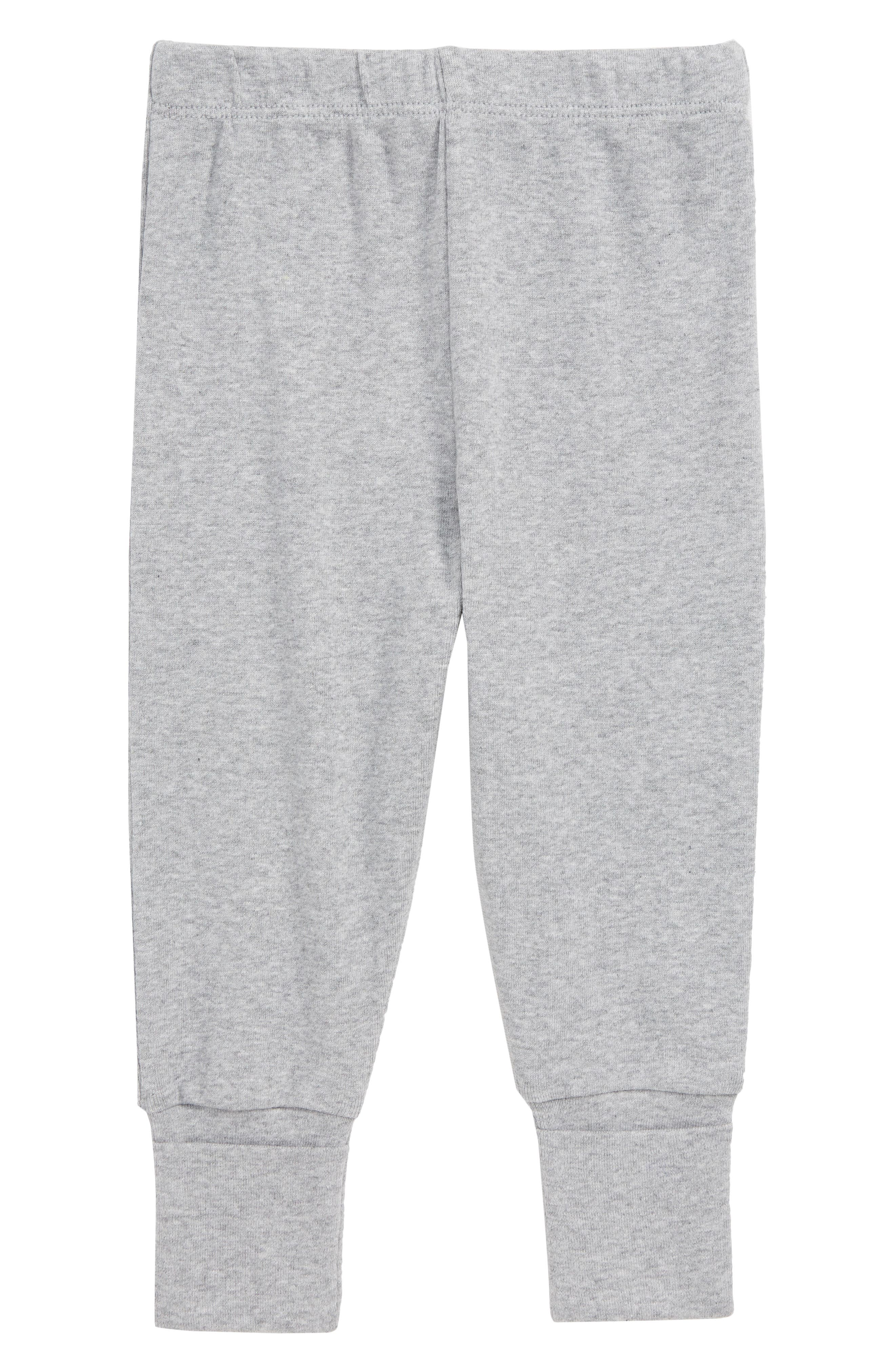 Hello Baby Organic Cotton Sweatpants,                             Main thumbnail 1, color,                             HEATHER GREY