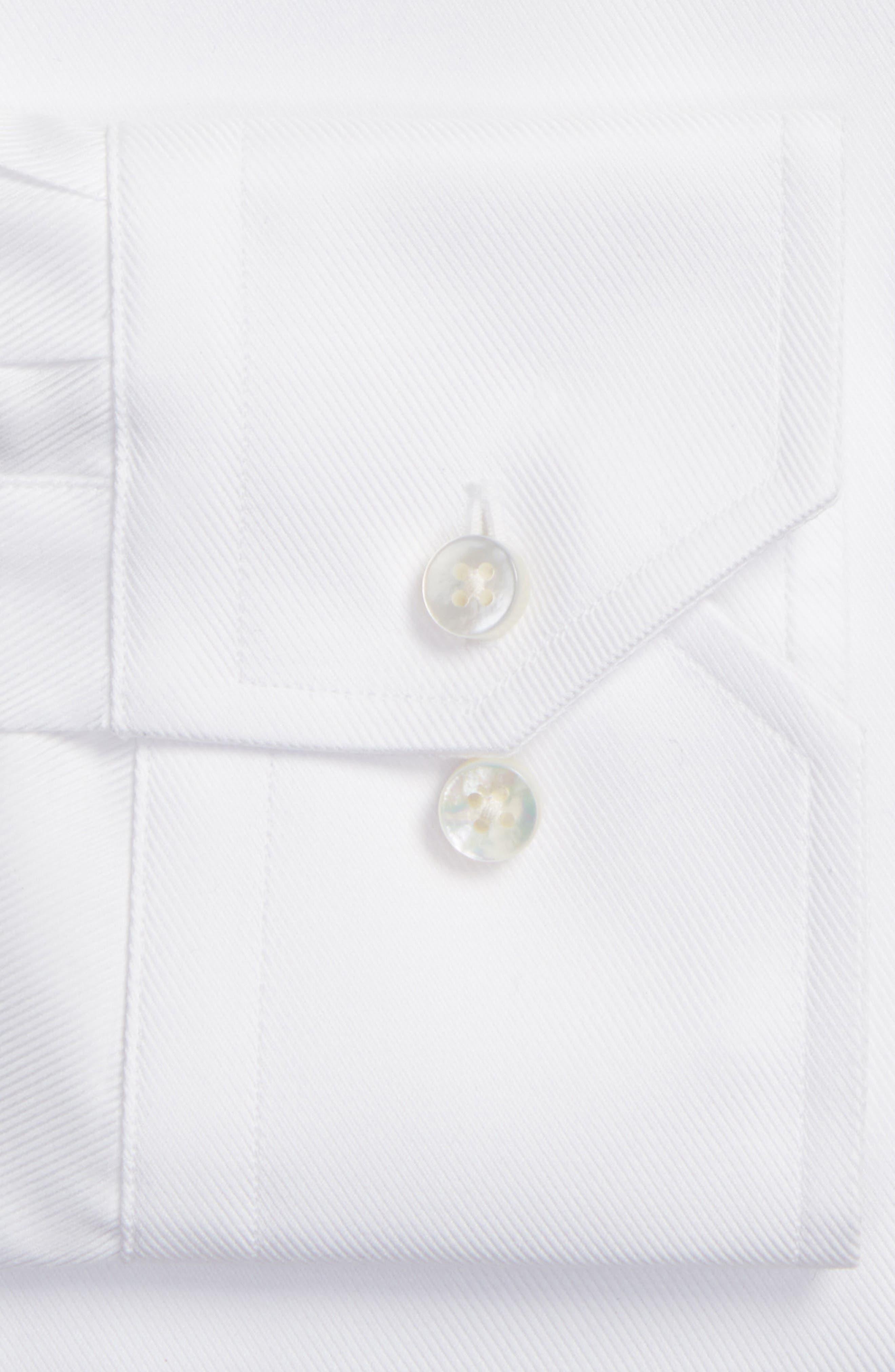 Classic Fit Dress Shirt,                             Alternate thumbnail 2, color,                             WHITE