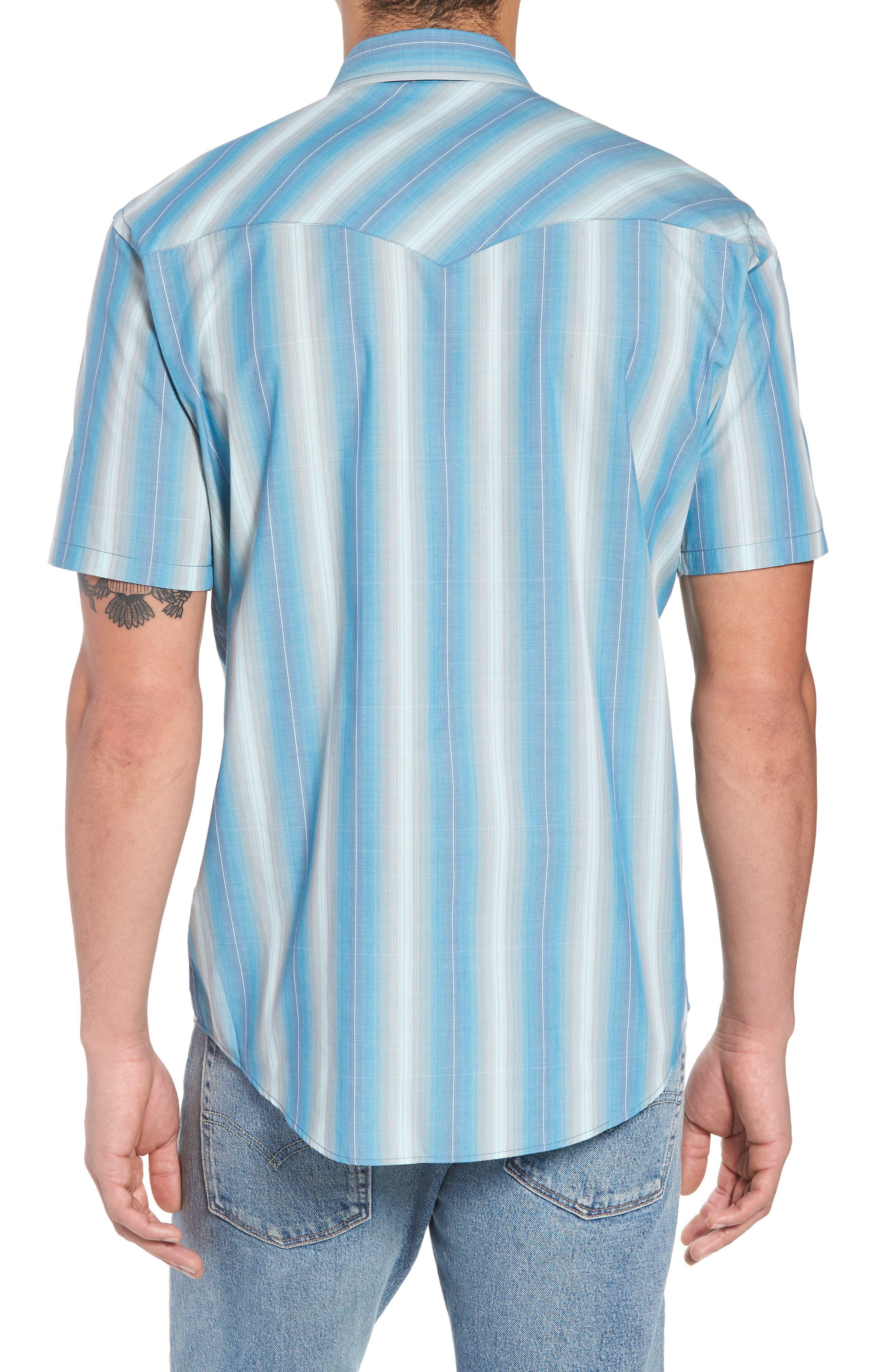 Frontier Regular Fit Plaid Short Sleeve Sport Shirt,                             Alternate thumbnail 4, color,