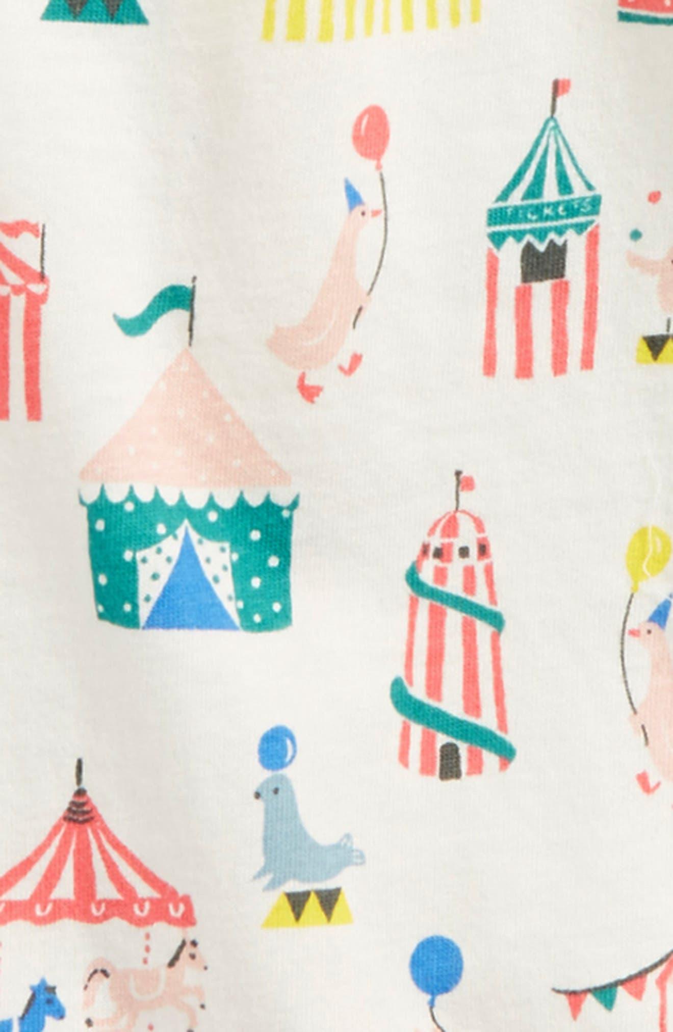 Circus Print Jersey Top,                             Alternate thumbnail 2, color,