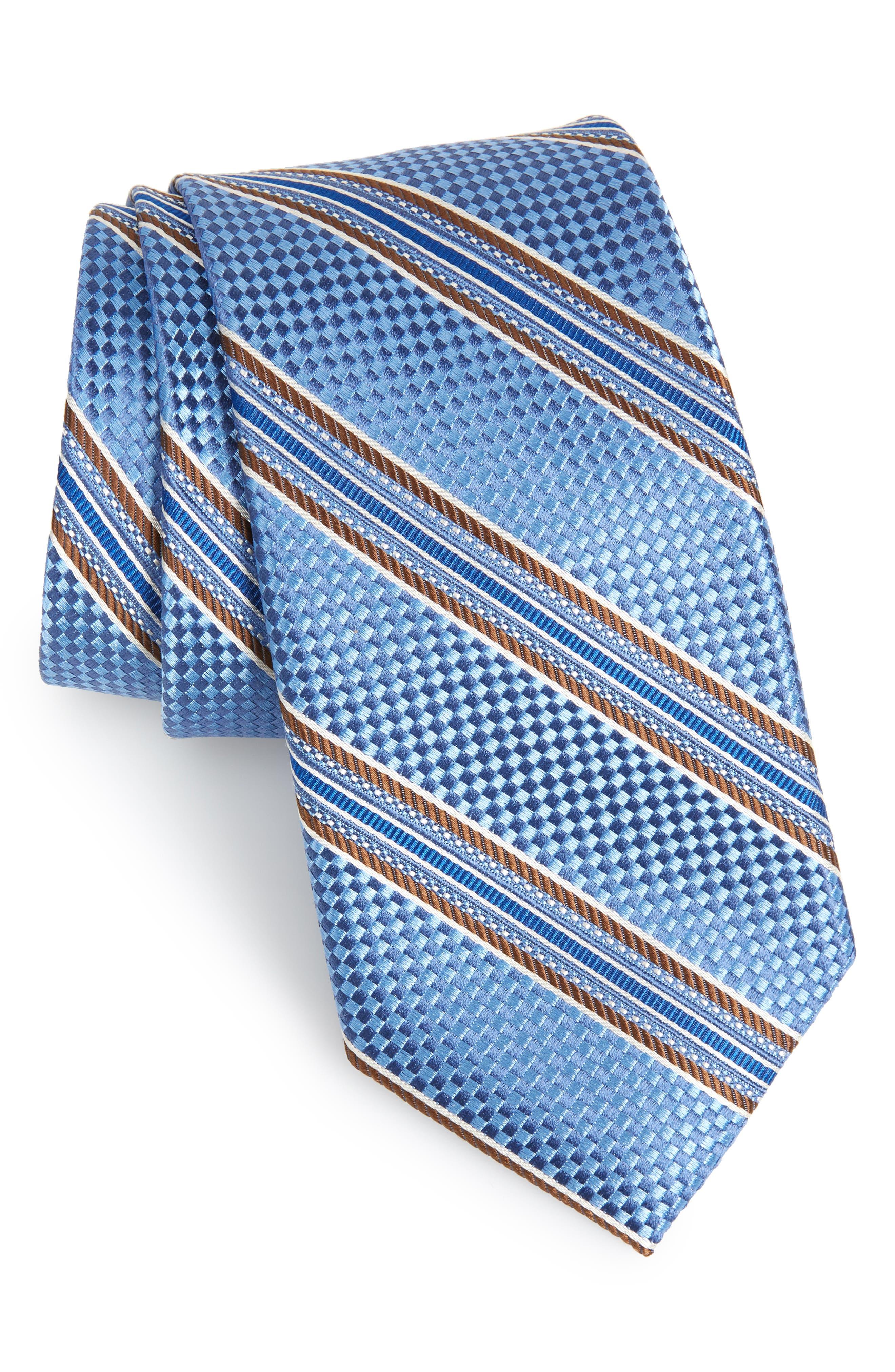 Sunlit Stripe Silk Tie,                             Main thumbnail 1, color,                             406