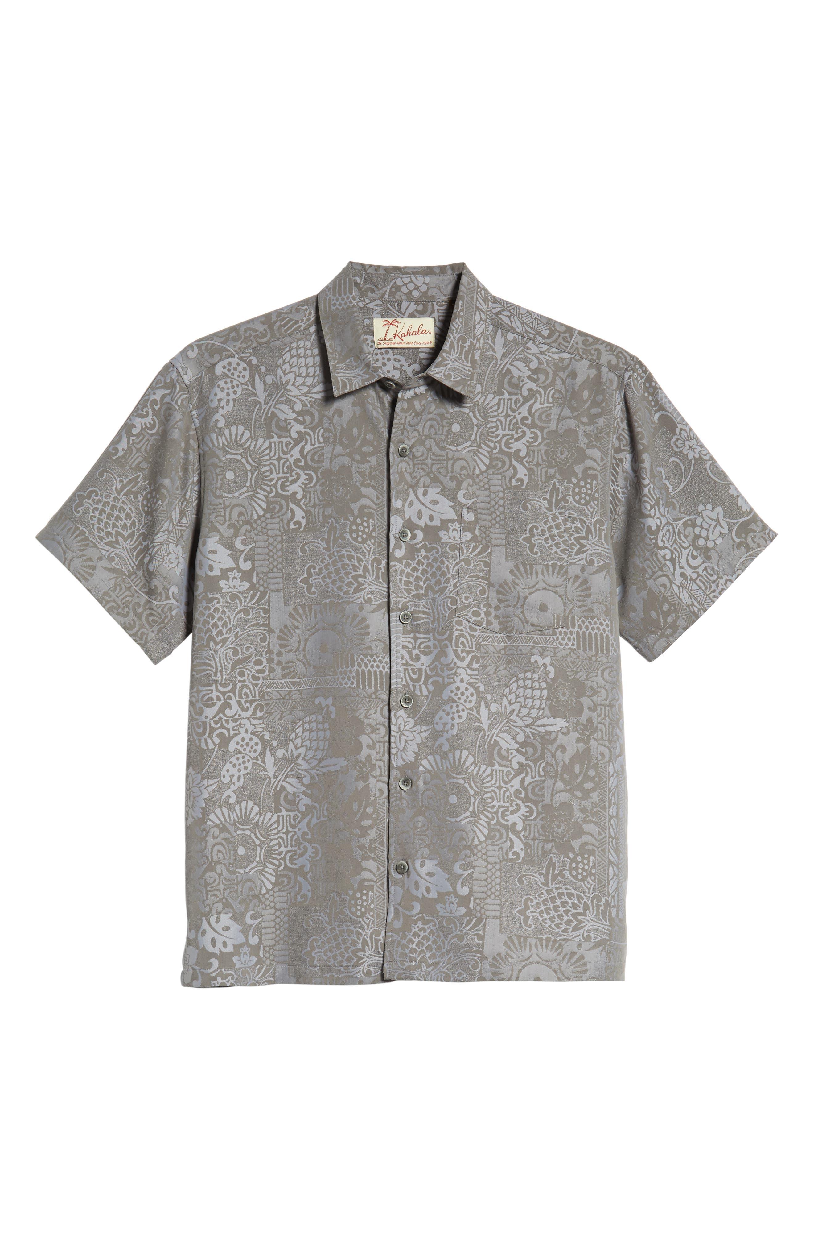 Apana Classic Fit Jacquard Sport Shirt,                             Alternate thumbnail 5, color,                             CHARCOAL