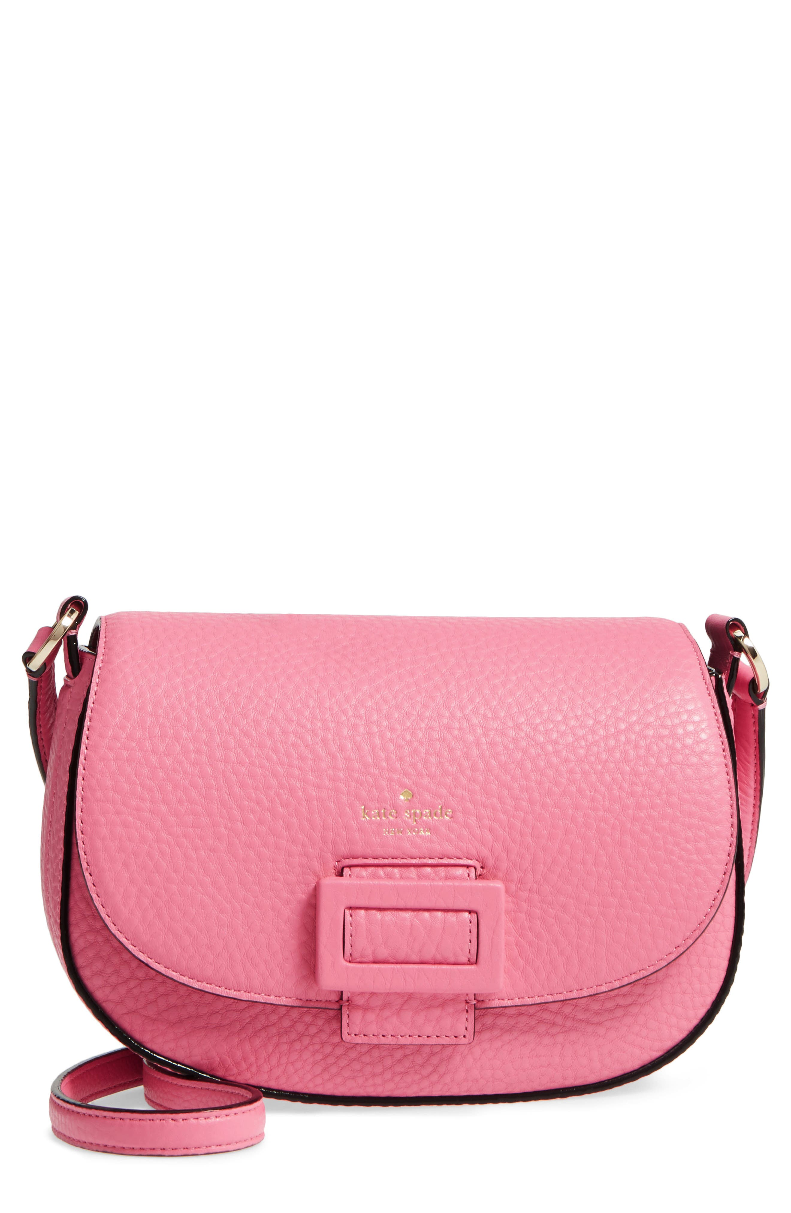 carlyle street - kallie leather saddle bag,                             Main thumbnail 3, color,