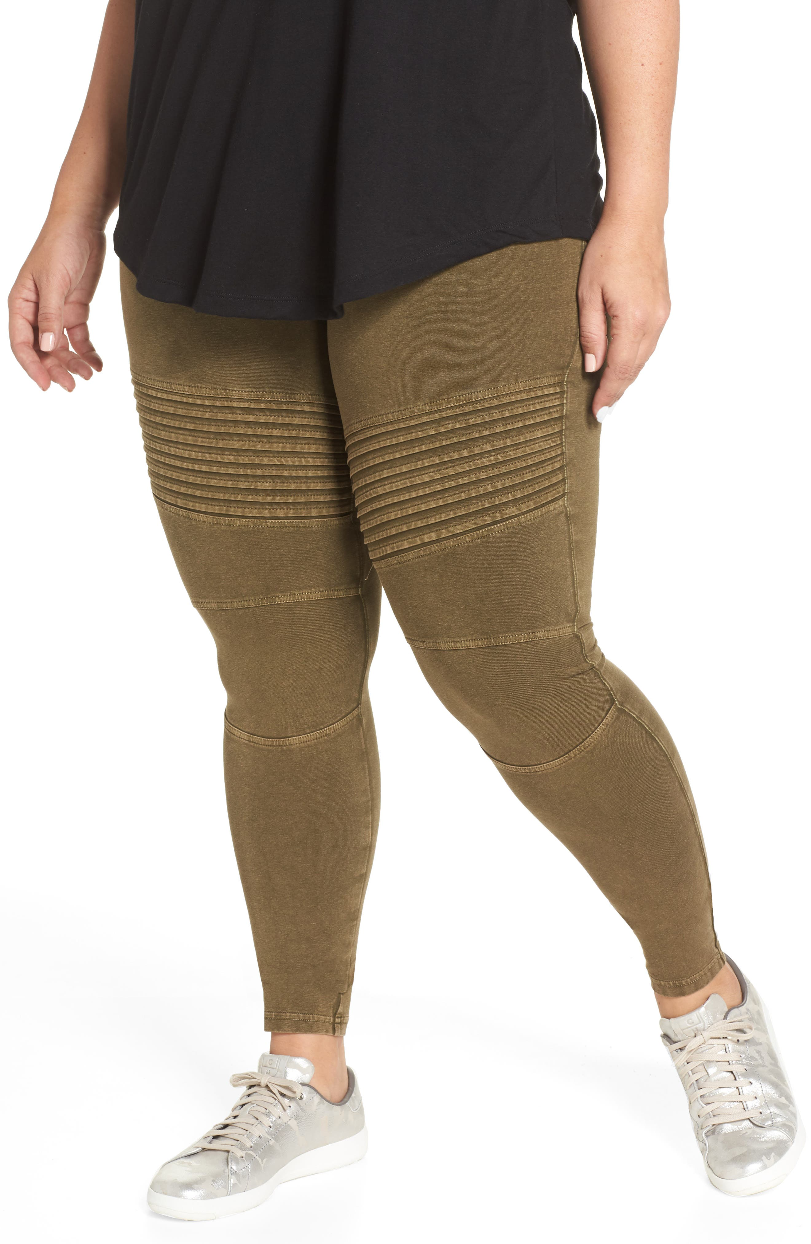 Washed Moto Leggings,                             Alternate thumbnail 2, color,                             OLIVE DARK
