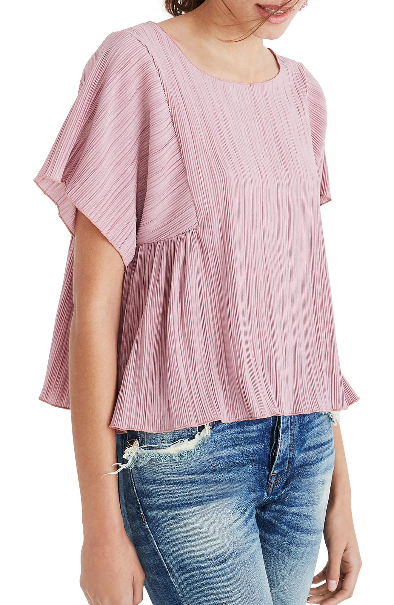 Micropleat Top,                             Main thumbnail 4, color,