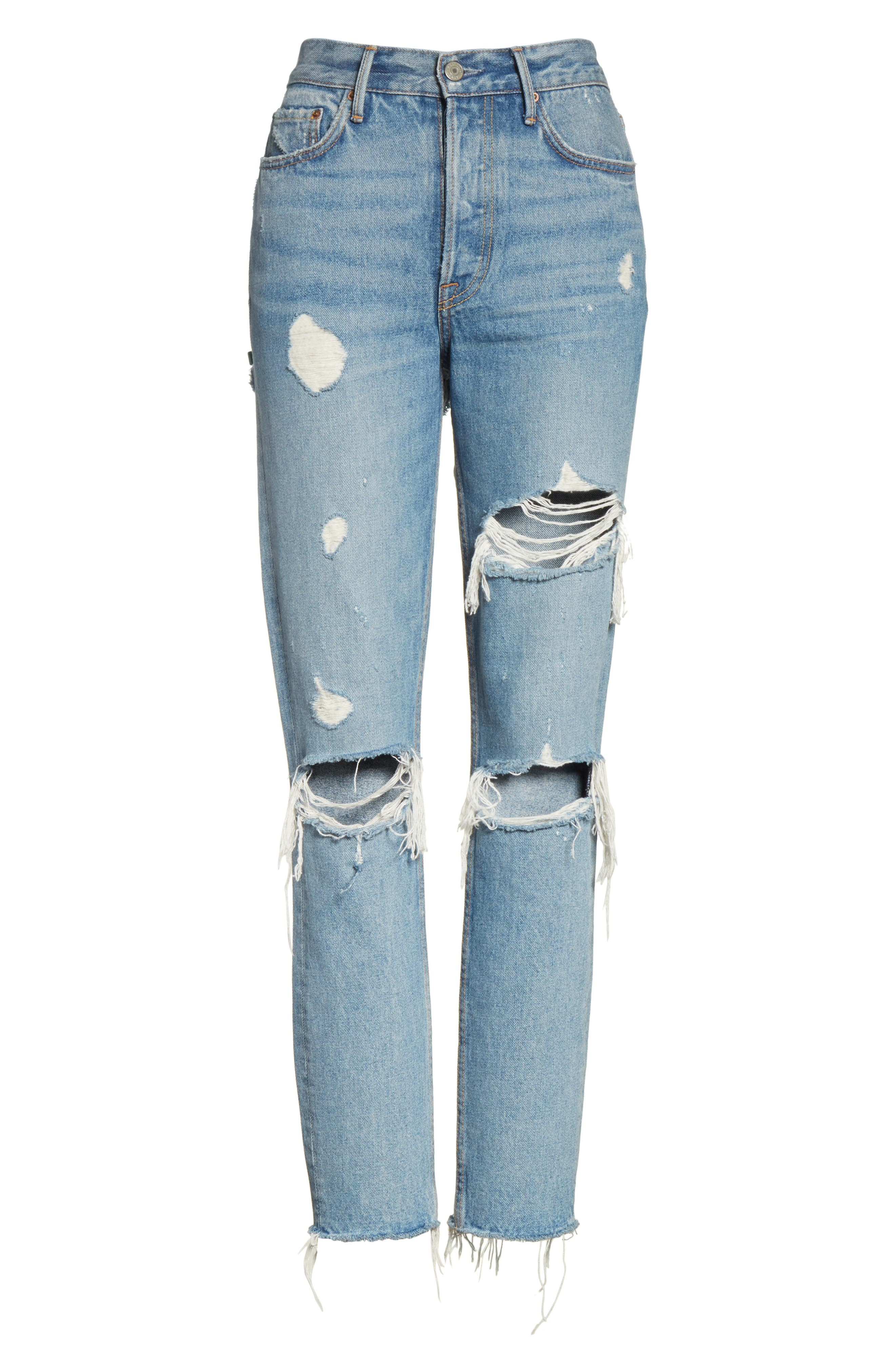 Karolina Ripped Rigid High Waist Skinny Jeans,                             Alternate thumbnail 6, color,                             A LITTLE MORE LOVE