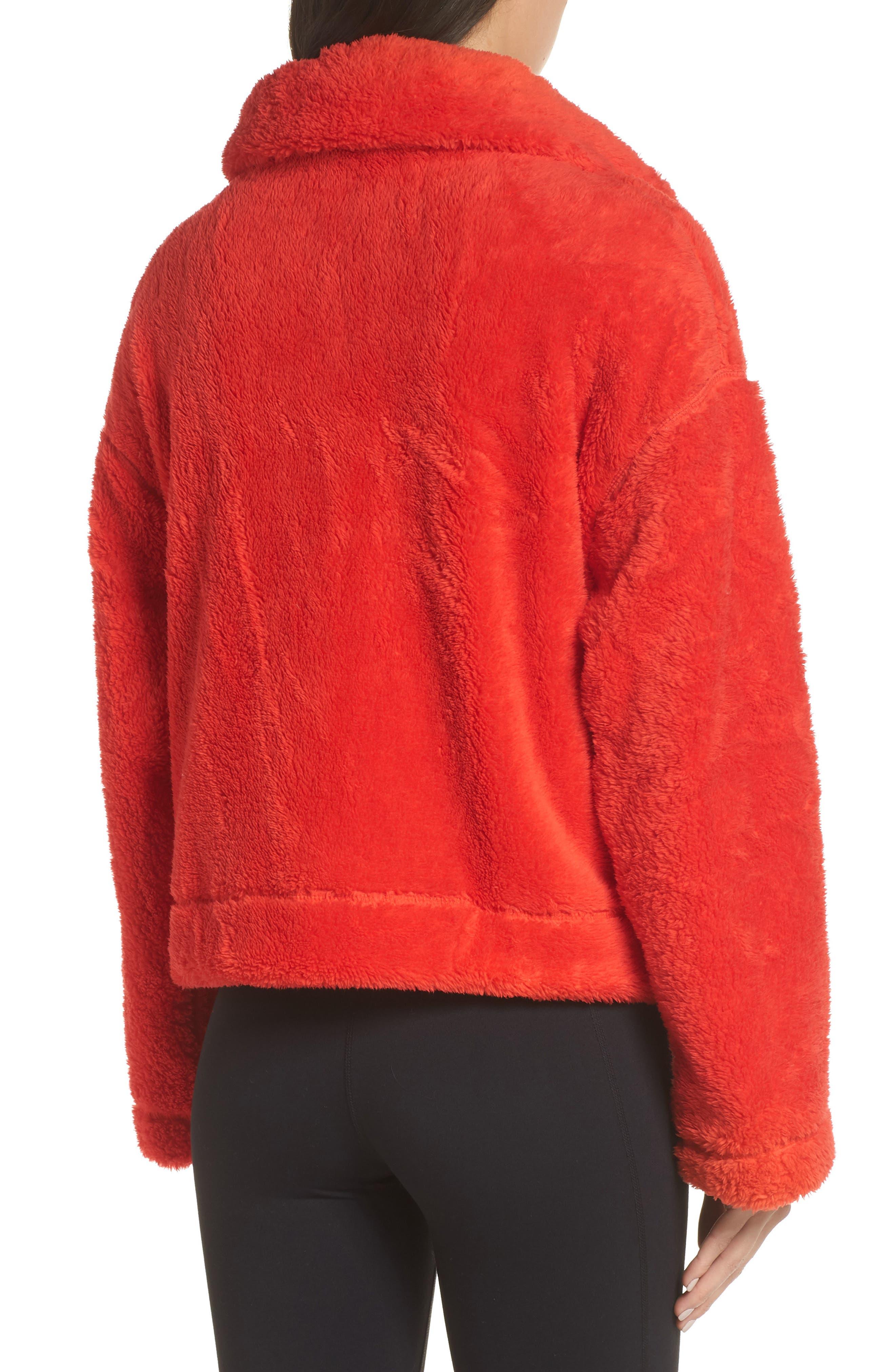 Dazed Fleece Jacket,                             Alternate thumbnail 2, color,                             RED