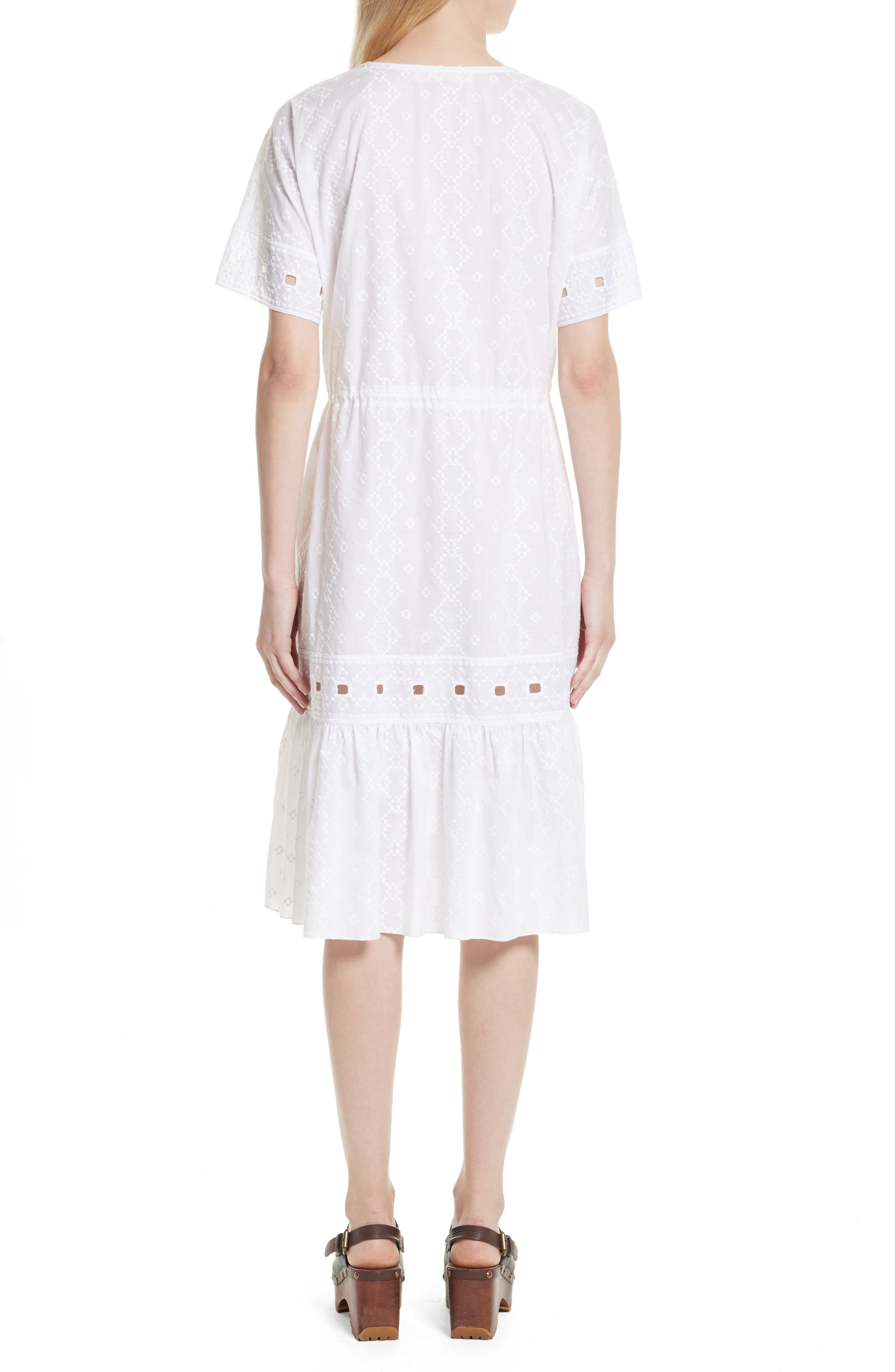 Cotton Eyelet Dress,                             Alternate thumbnail 2, color,                             101