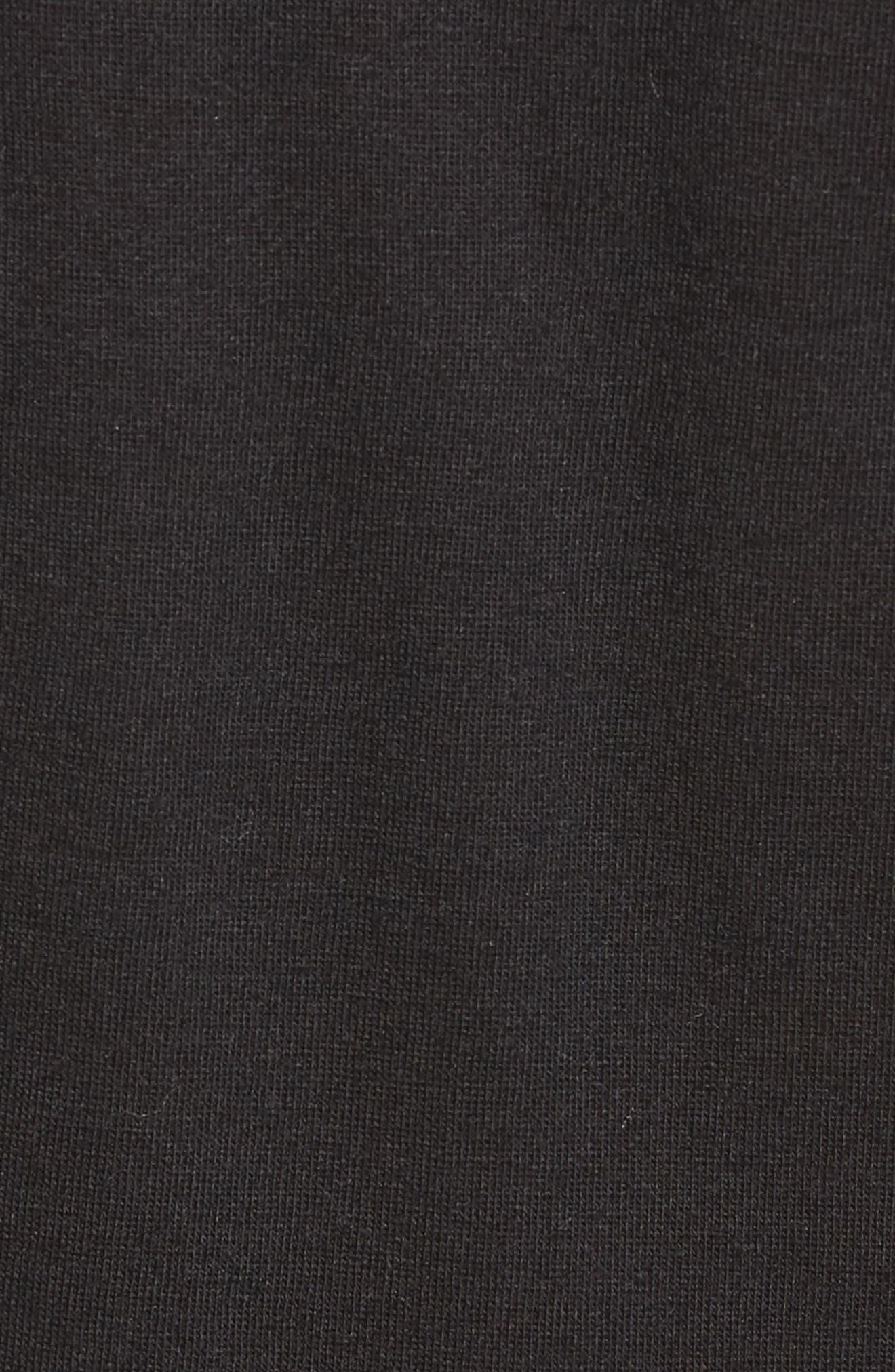 Side Tie Knit Top,                             Alternate thumbnail 5, color,                             001