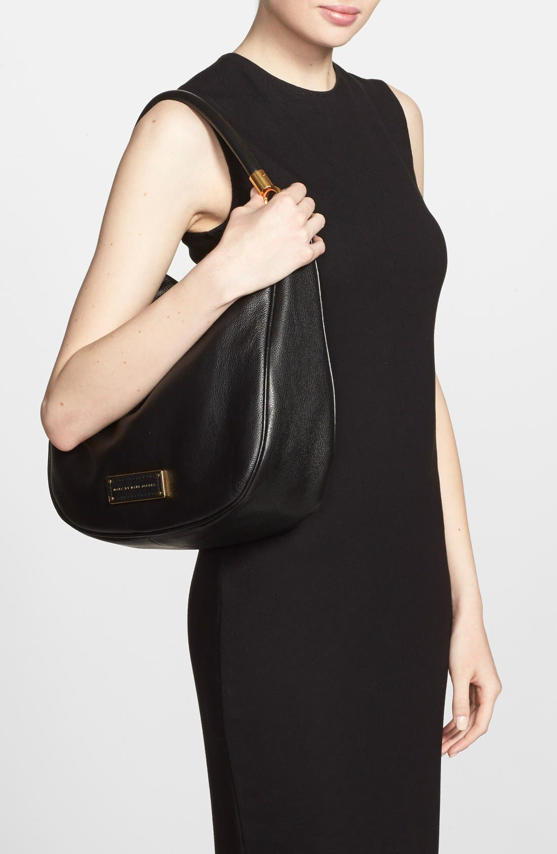 MARC BY MARC JACOBS 'Too Hot to Handle' Hobo,                             Alternate thumbnail 3, color,                             001