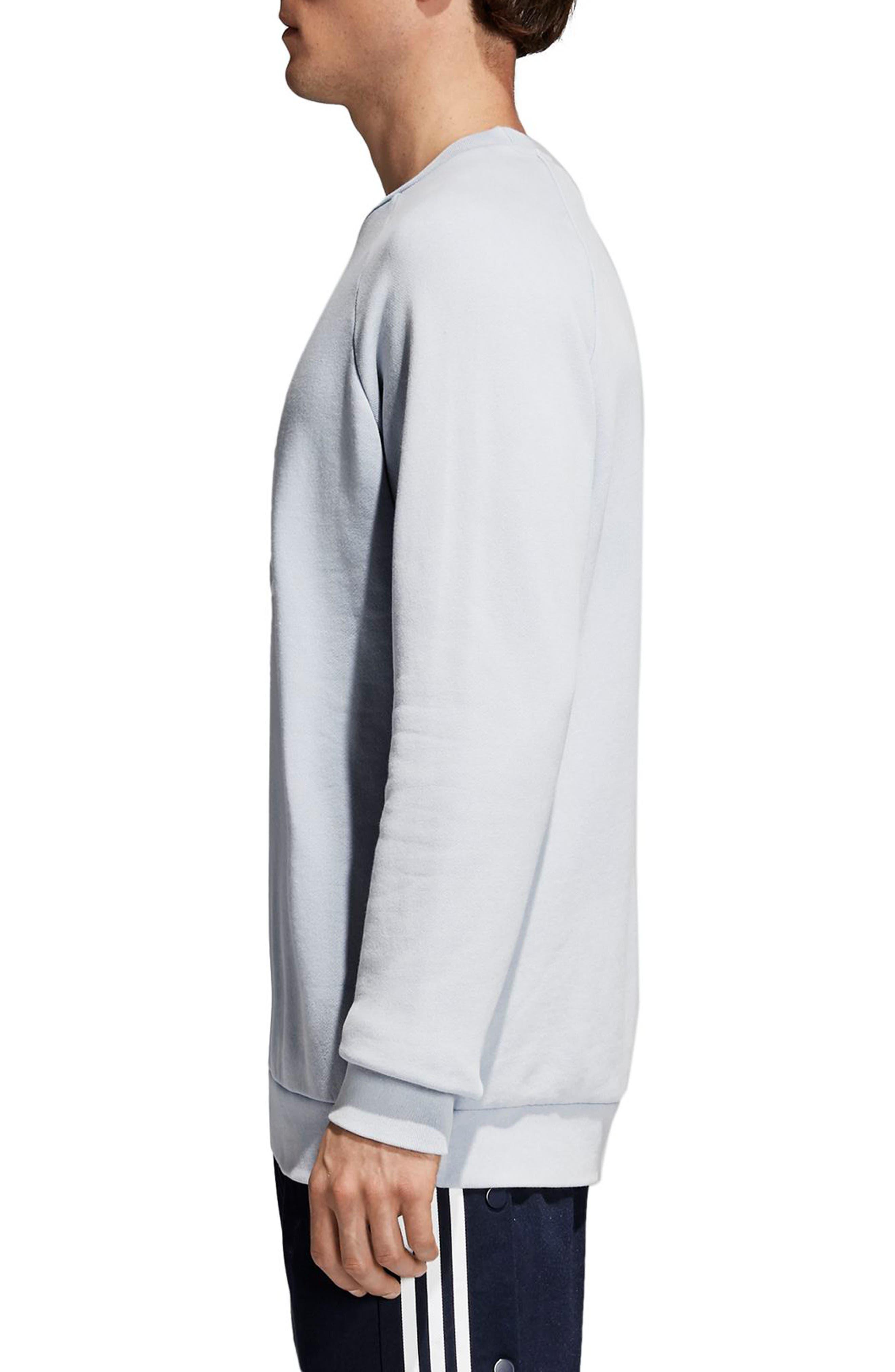 Trefoil Sweatshirt,                             Alternate thumbnail 3, color,                             459