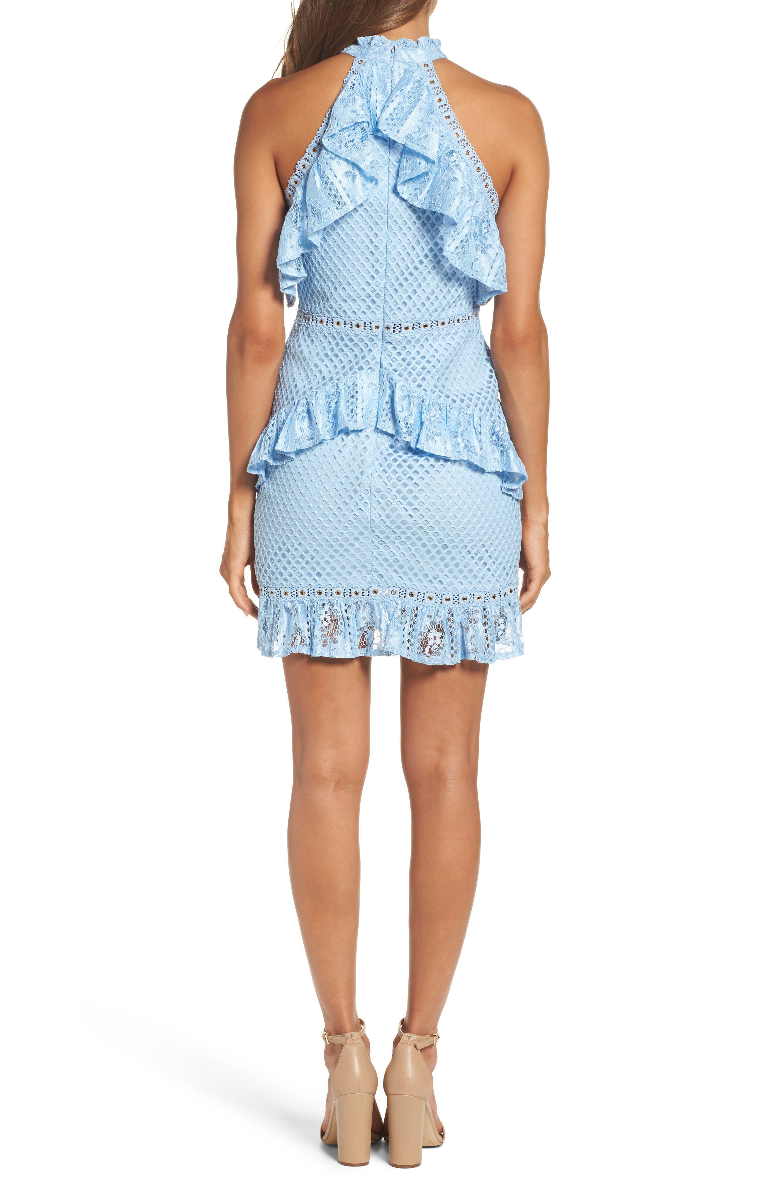 Lace Halter Minidress,                             Alternate thumbnail 2, color,                             460