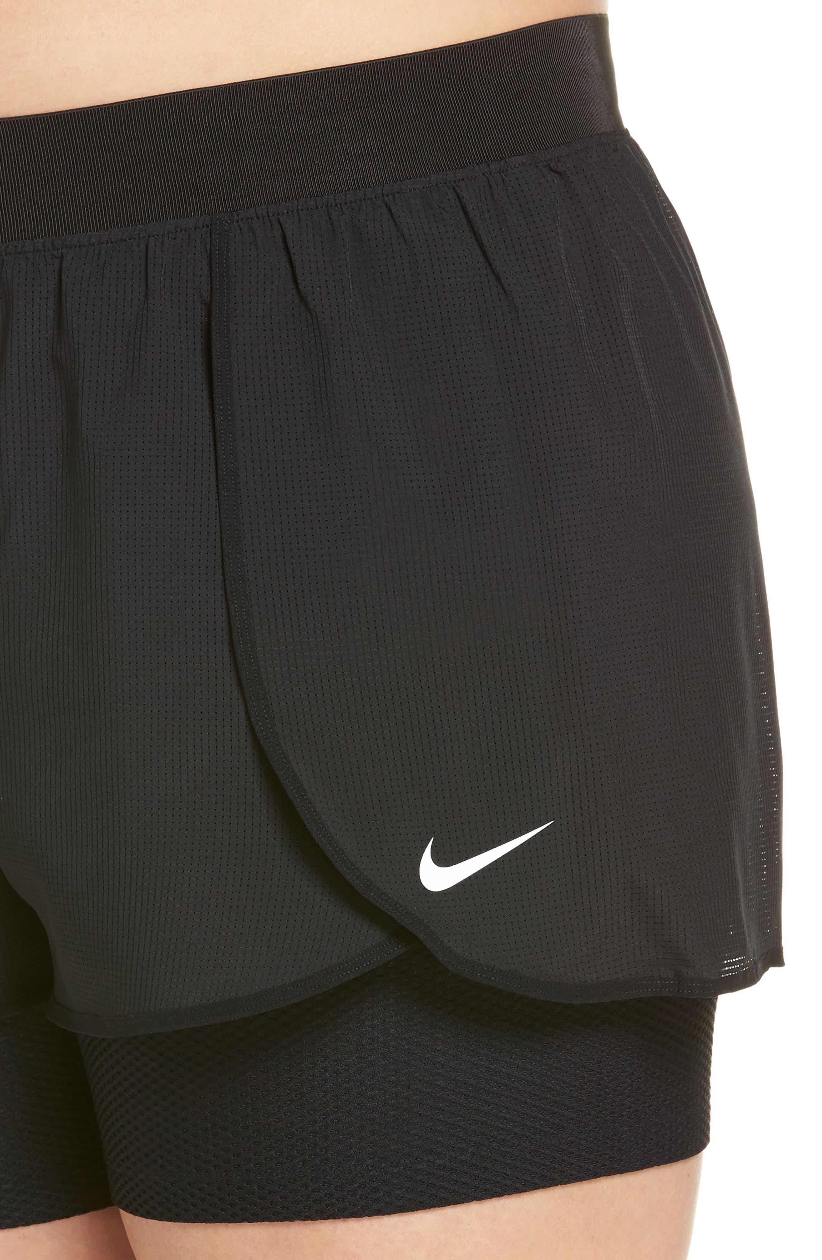 NIKE,                             Flex Bliss 2-in-1 Training Shorts,                             Alternate thumbnail 4, color,                             010