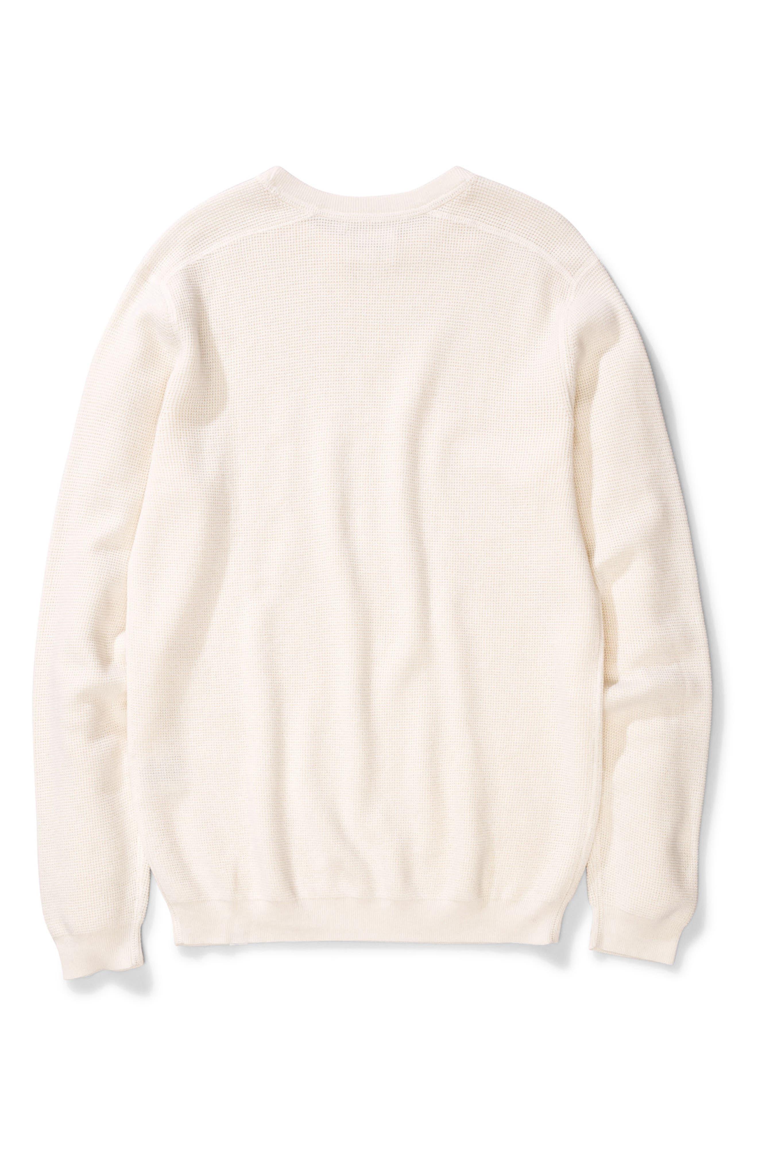 Lauge Waffle Knit Sweatshirt,                         Main,                         color, 101