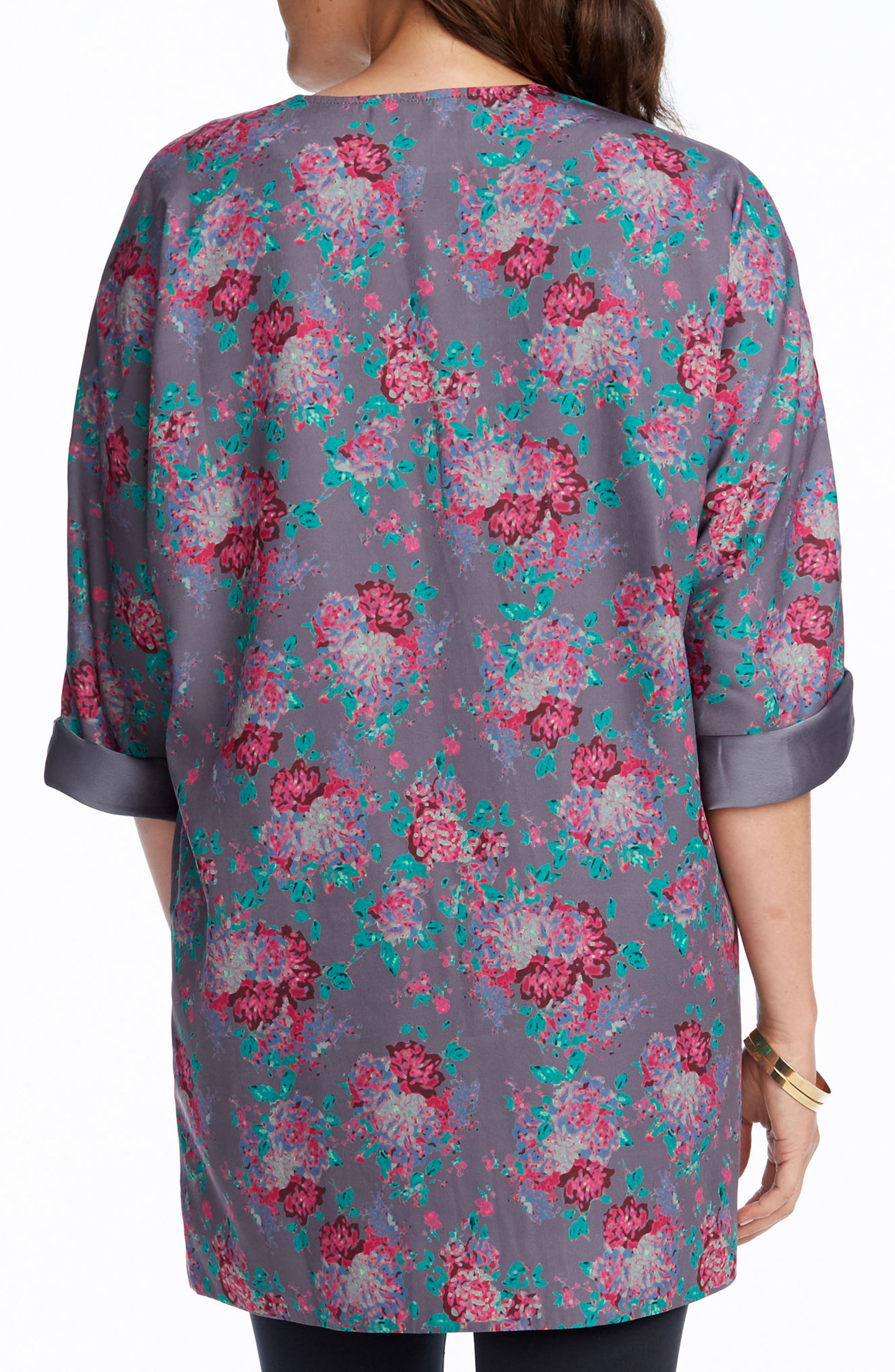 Bella Maternity Kimono Jacket,                             Alternate thumbnail 2, color,                             SLATE COMBO