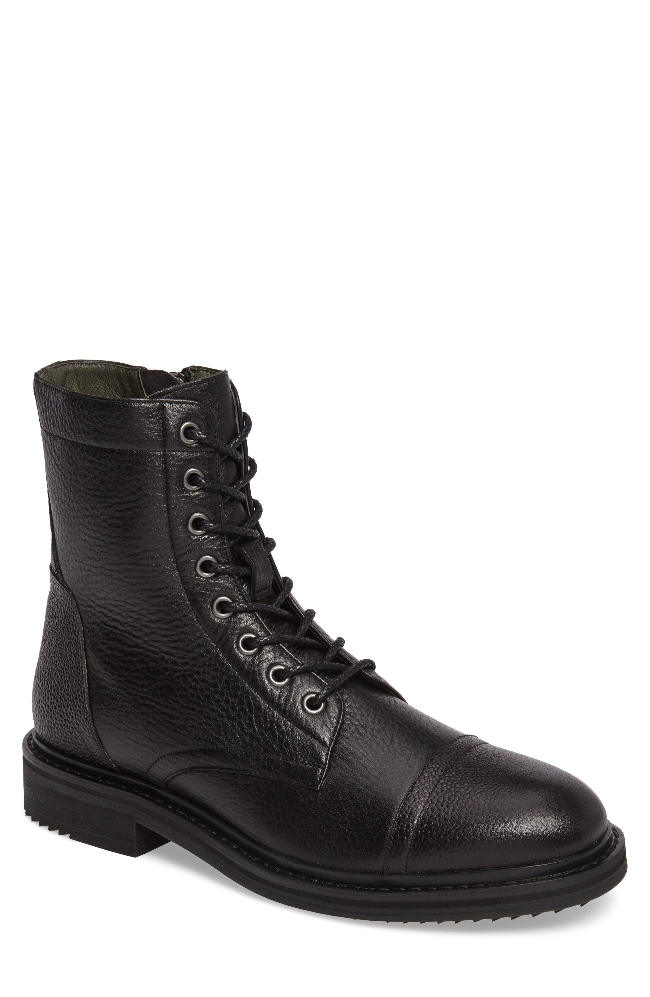 John Varvatos Star USA Cooper Cap Toe Boot,                         Main,                         color, 001