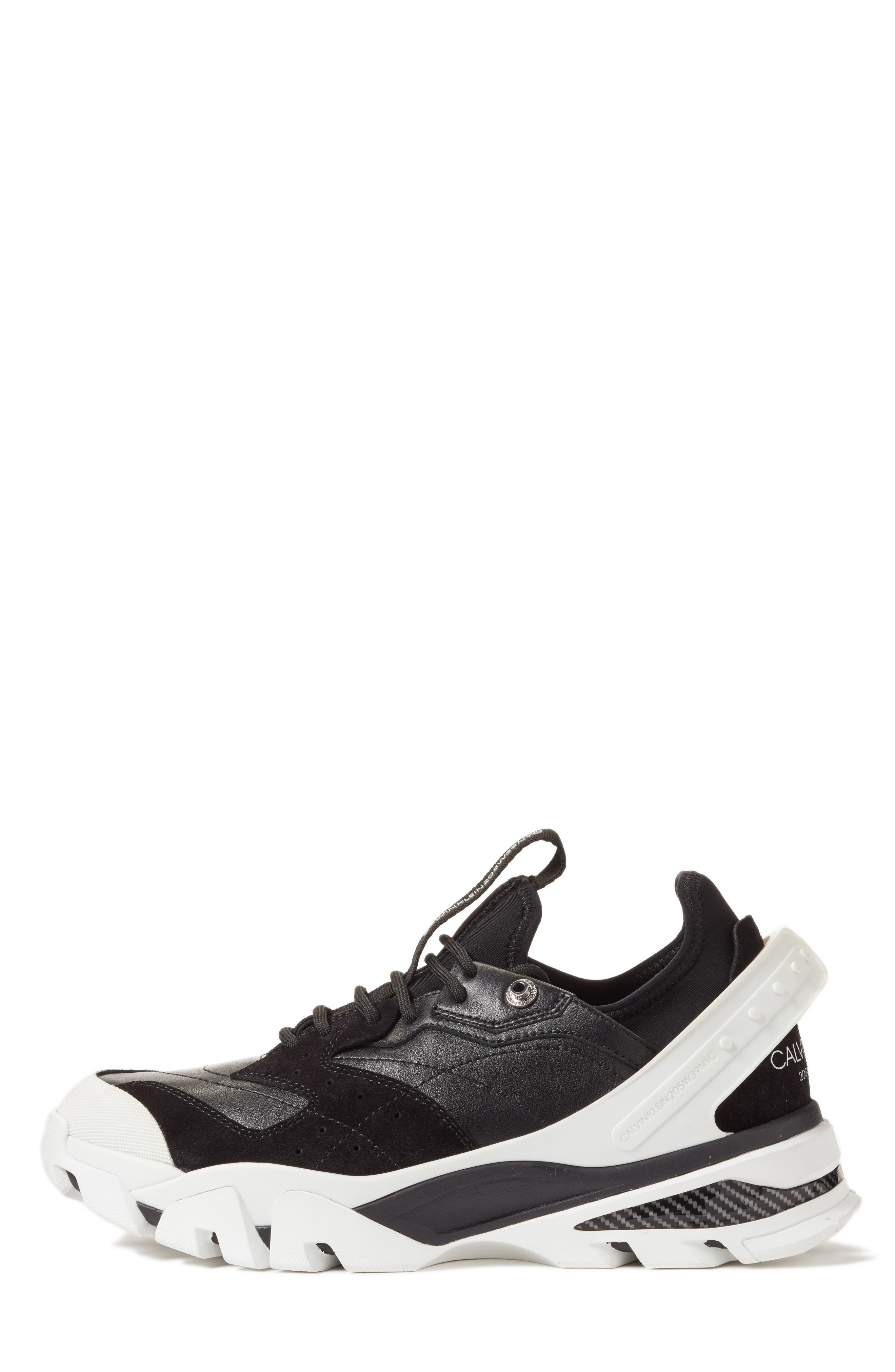 205W39NYC Carla Sneaker,                             Alternate thumbnail 3, color,                             WHITE/ BLACK