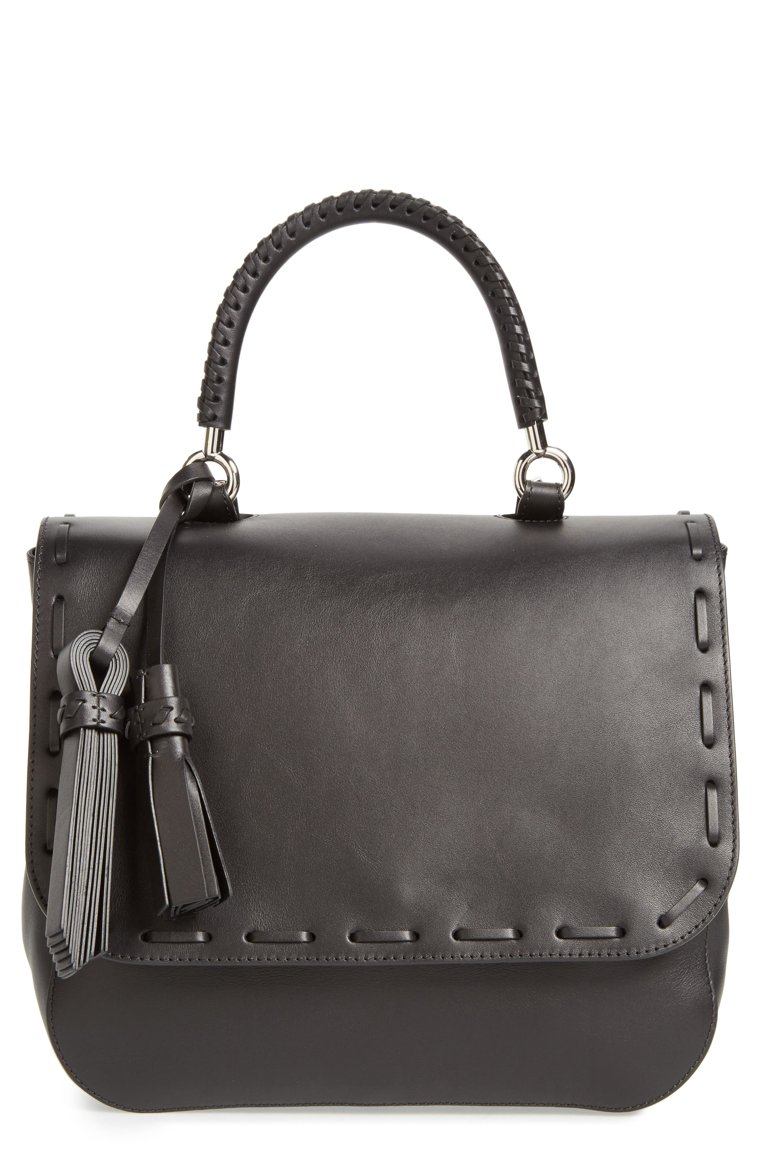 BoBag Leather Satchel,                         Main,                         color, 001