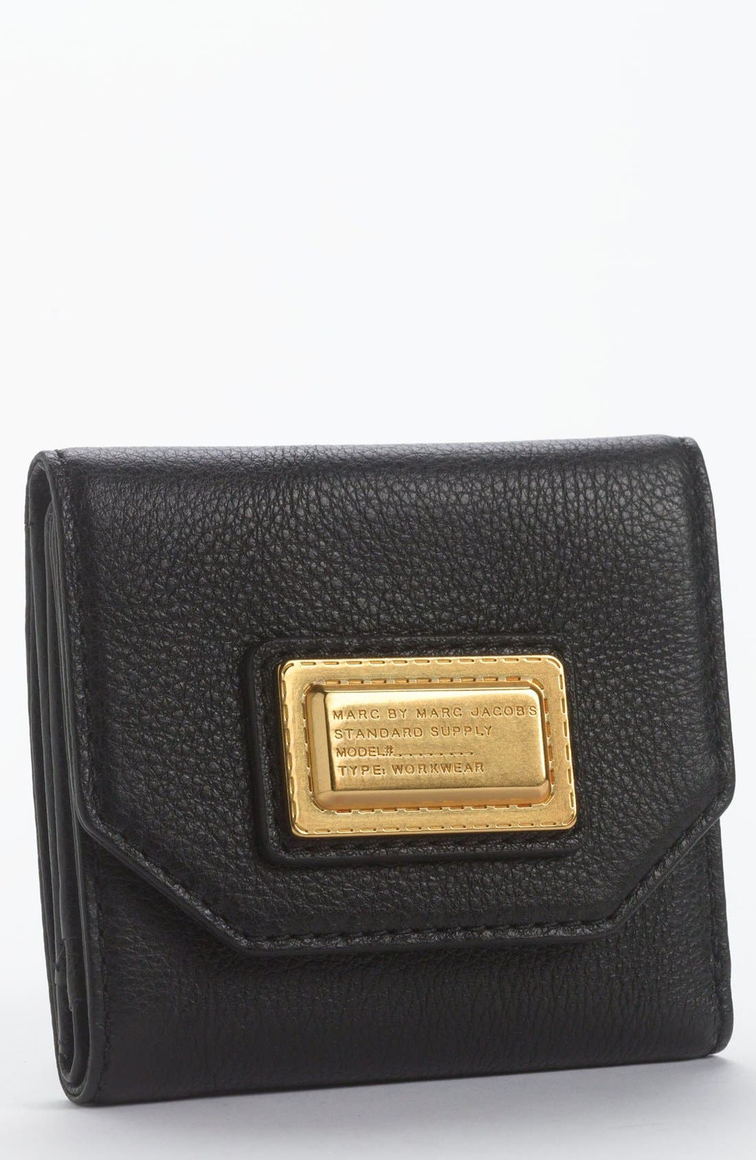 MARC BY MARC JACOBS Bifold French Wallet,                             Main thumbnail 1, color,                             001