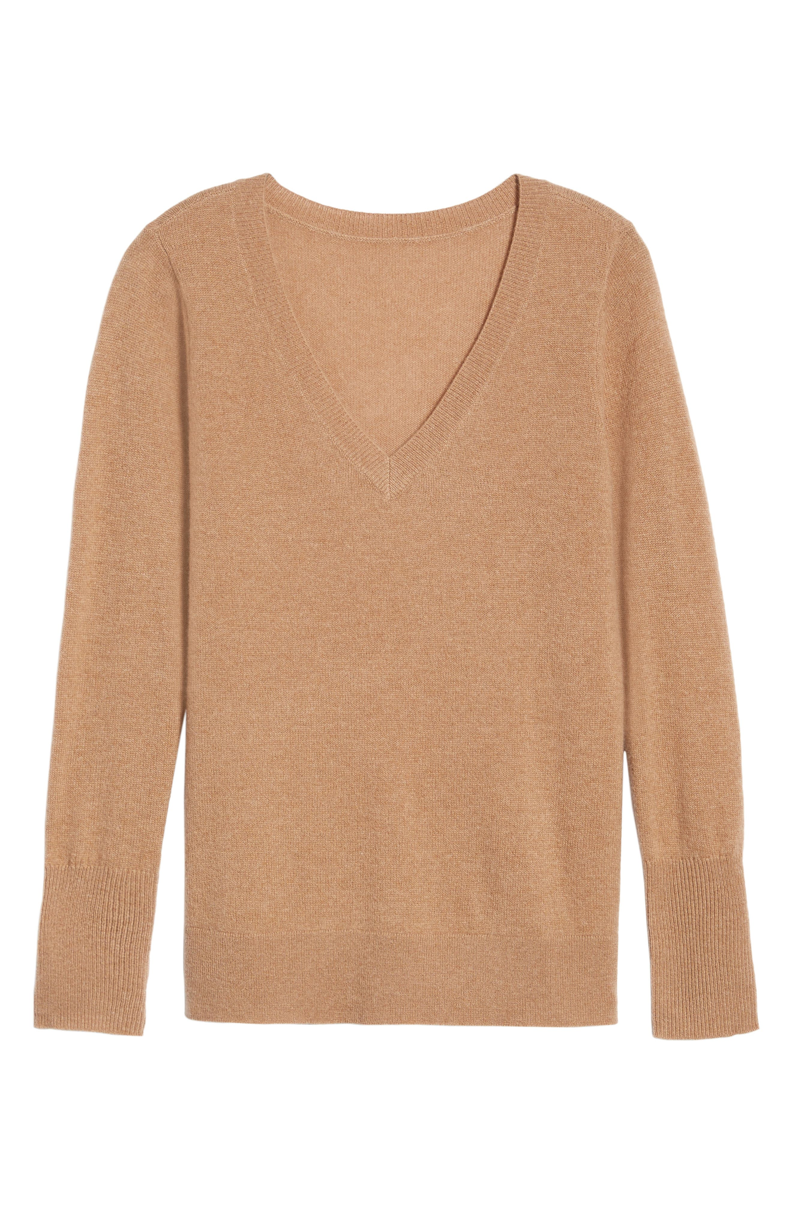 V-Neck Cashmere Sweater,                             Alternate thumbnail 89, color,