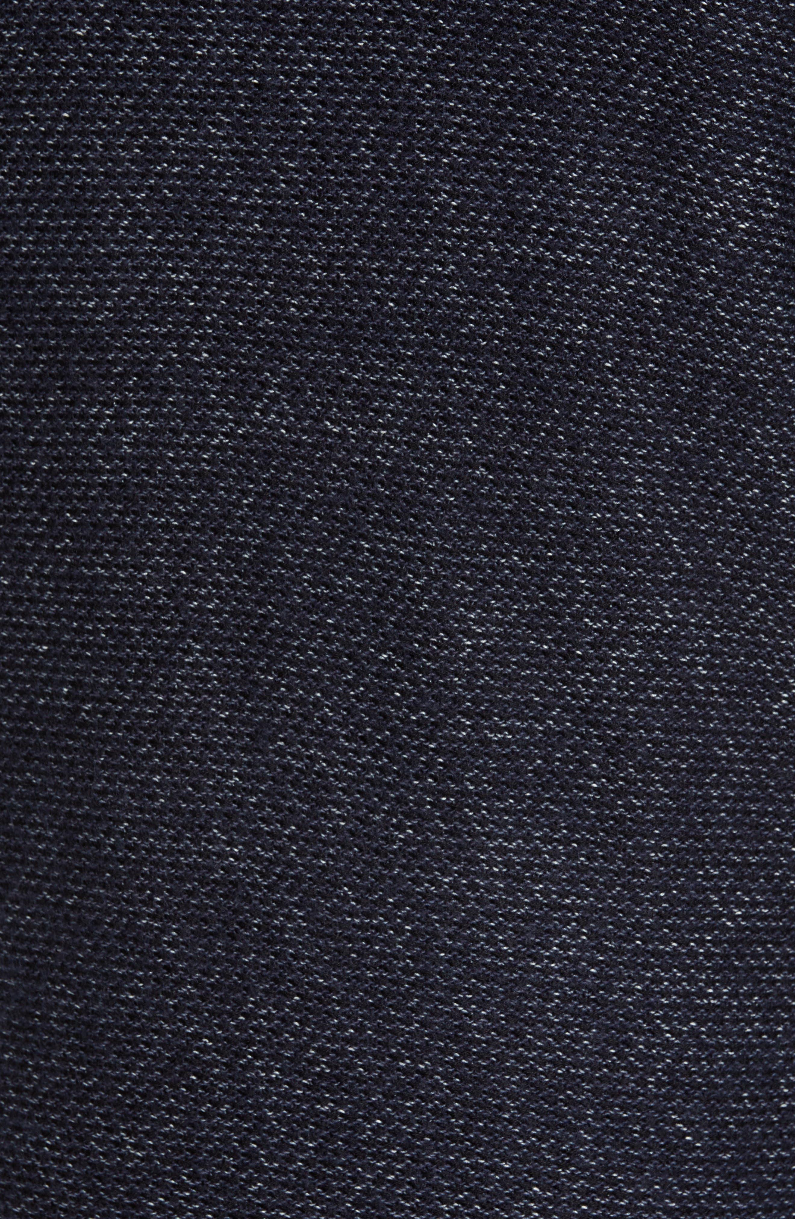Mix Stitch Regular Fit Cotton Blend Sweater,                             Alternate thumbnail 5, color,                             INK BLUE