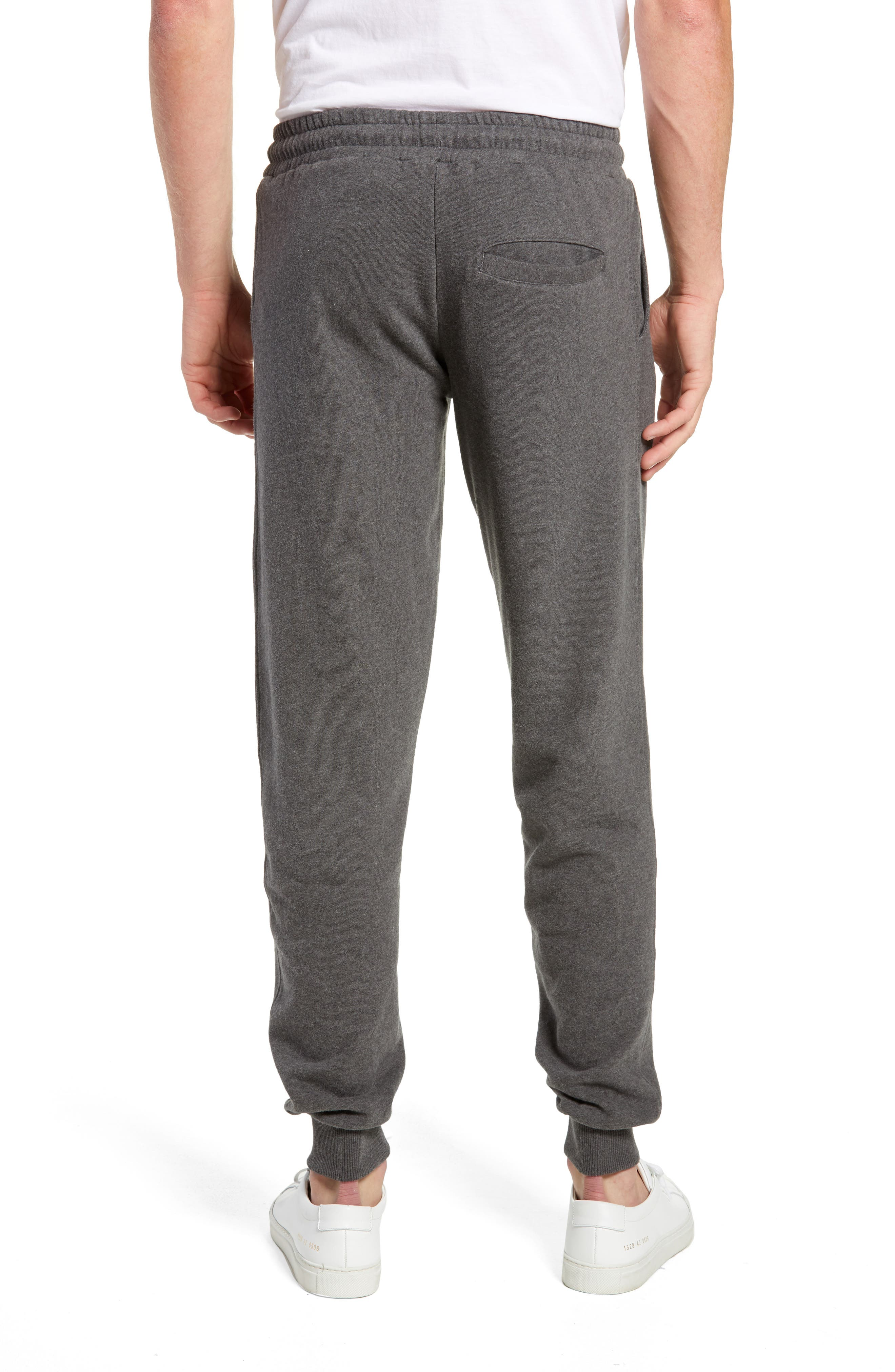 KnowledgeCotton Mélange Sweatpants,                             Alternate thumbnail 2, color,                             GREY MELANGE