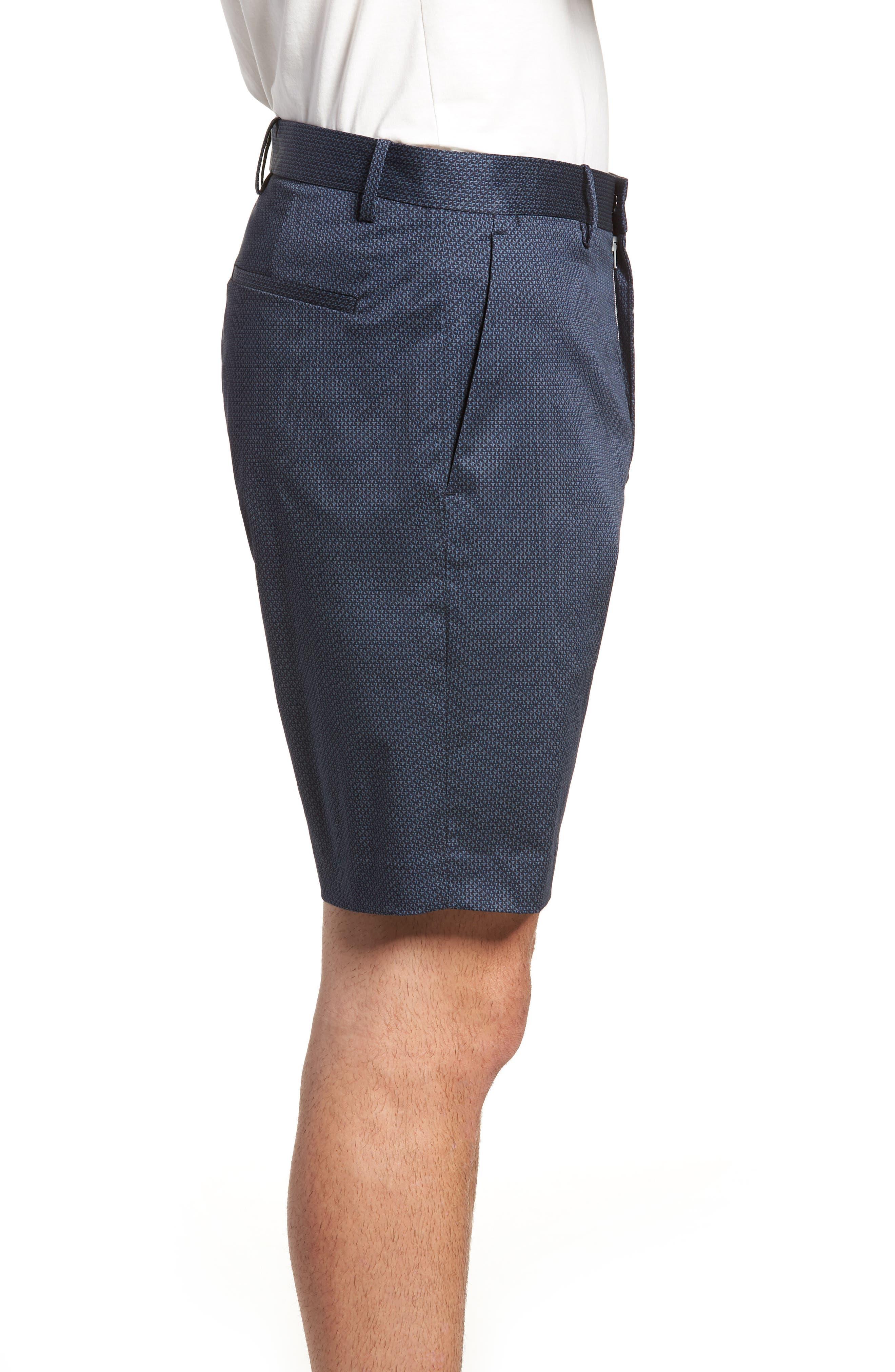 Zaine Stretch Cotton Shorts,                             Alternate thumbnail 3, color,                             ECLIPSE MULTI