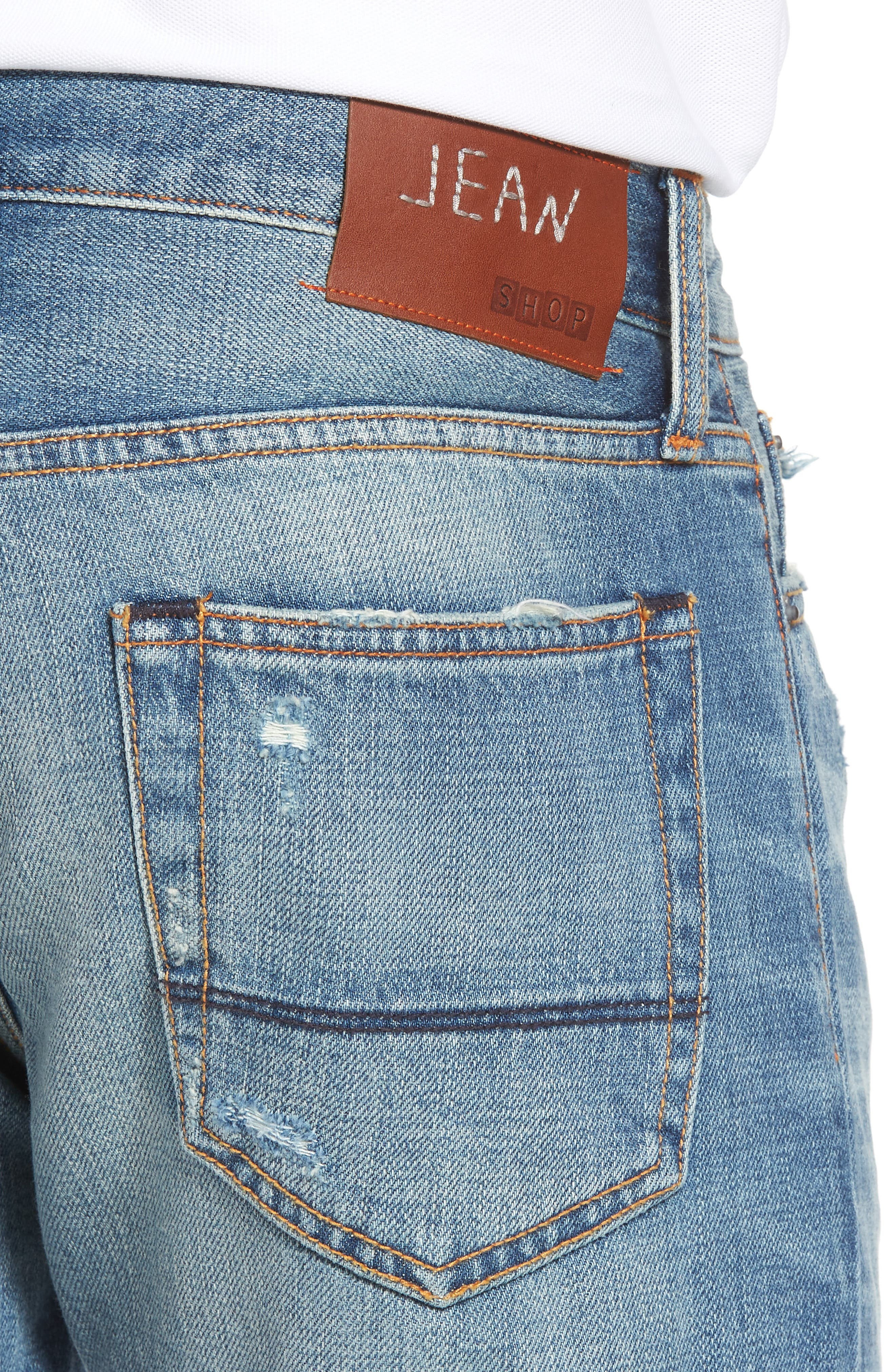 Mick Slim Straight Leg Jeans,                             Alternate thumbnail 4, color,                             400