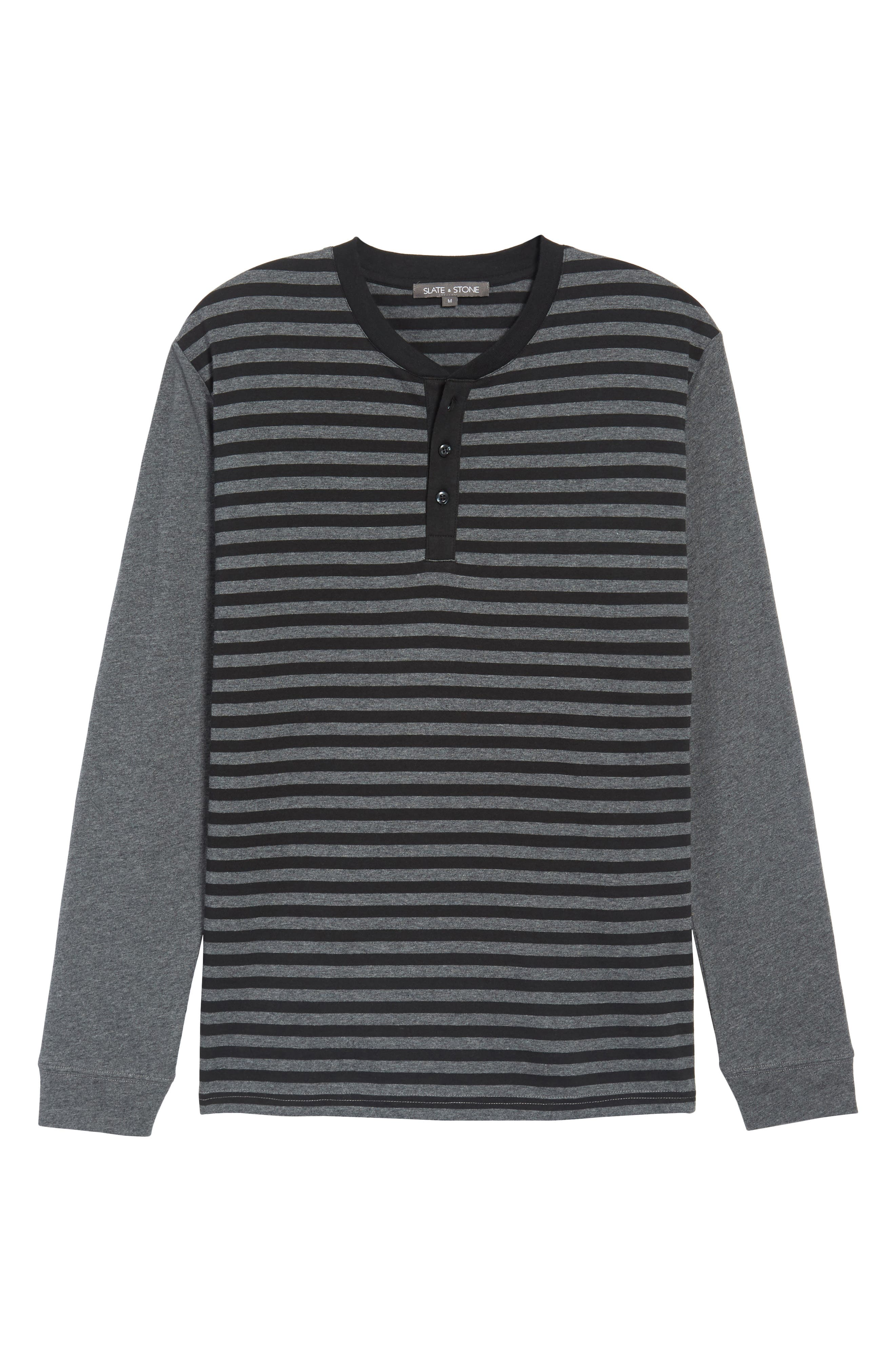 Striped Long Sleeve Henley T-Shirt,                             Alternate thumbnail 6, color,                             081