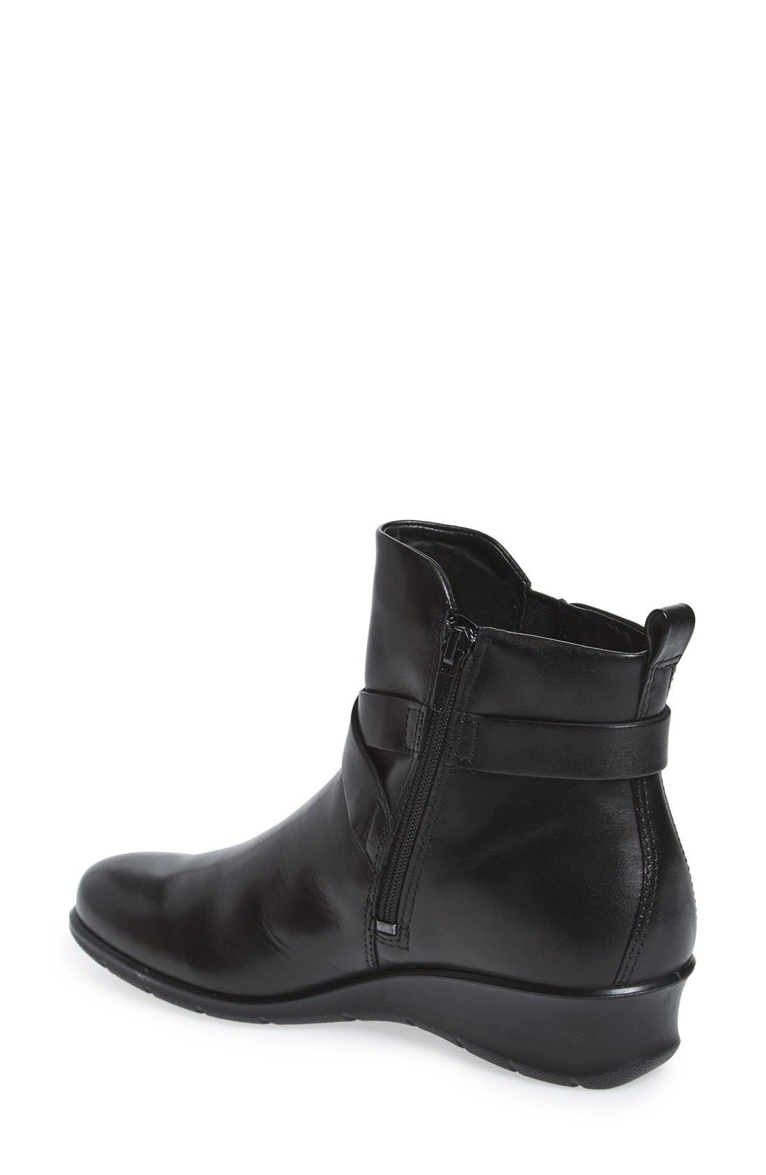 'Felicia' Strappy Zip-Up Wedge Bootie,                             Alternate thumbnail 2, color,                             008
