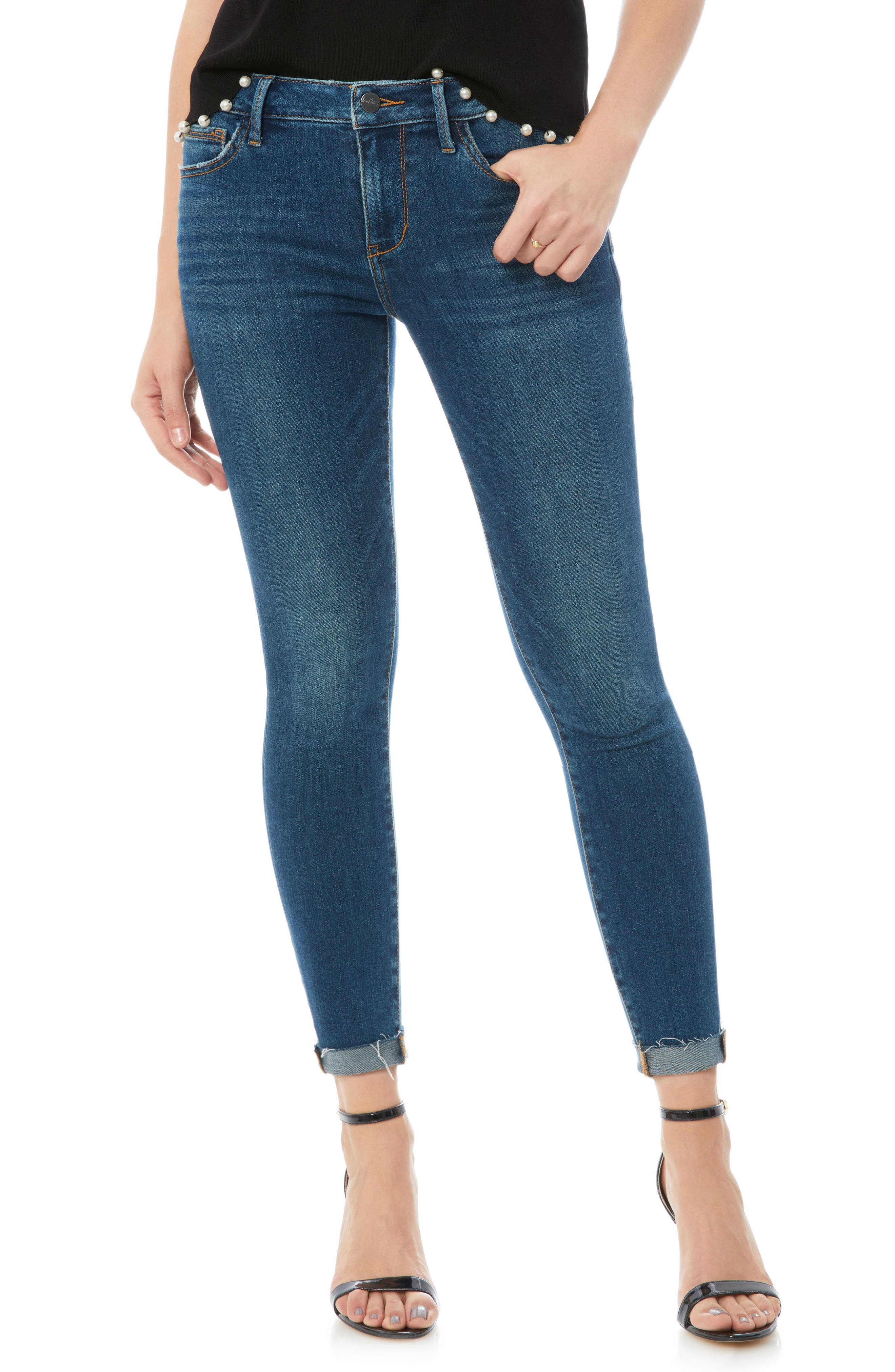 The Kitten Raw Edge Skinny Jeans,                             Main thumbnail 1, color,                             LANELLE