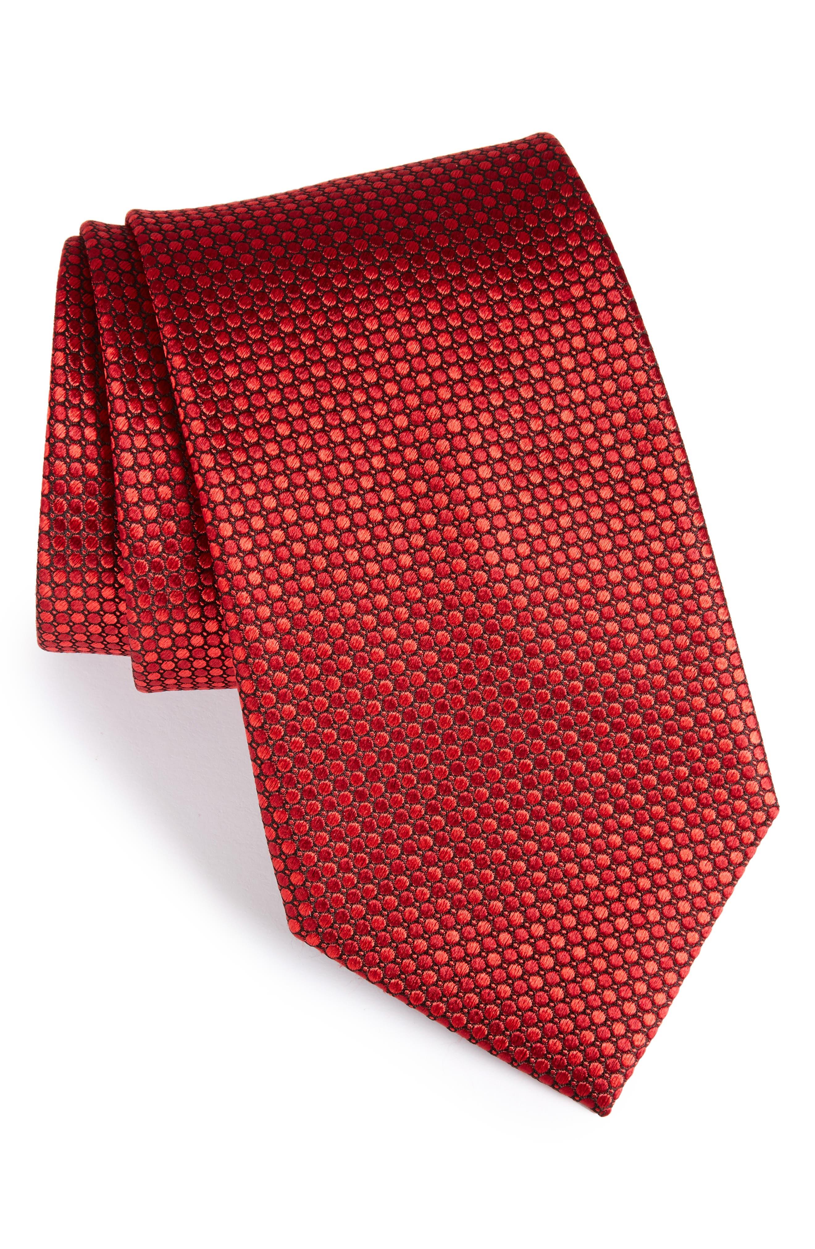 Dot Grid Silk Tie,                             Main thumbnail 2, color,