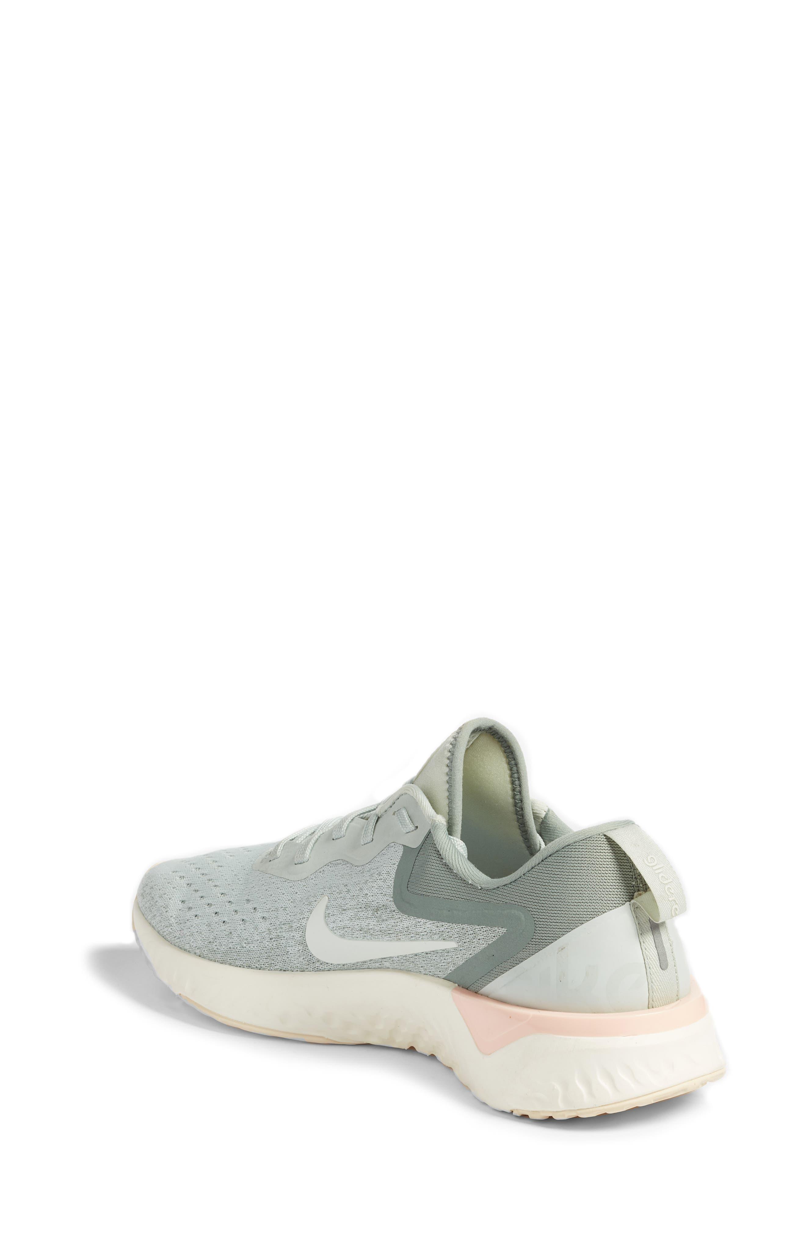 Odyssey React Running Shoe,                             Alternate thumbnail 2, color,                             LIGHT SILVER/ SAIL/ MICA GREEN