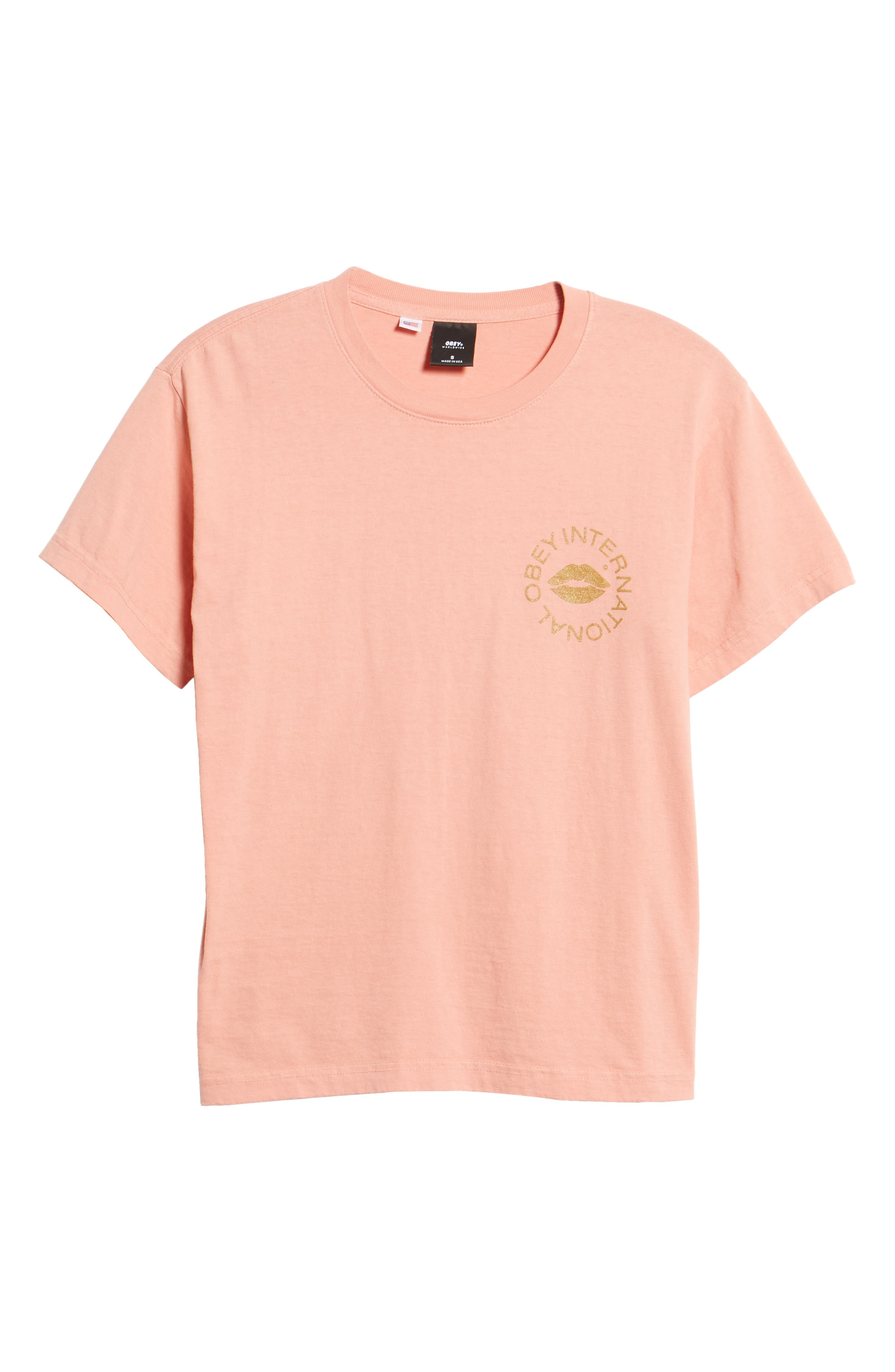 OBEY,                             Kiss of Obey Boxy Tee,                             Alternate thumbnail 6, color,                             950