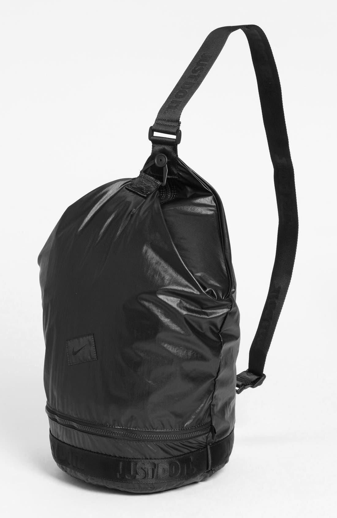 NIKE,                             'Bucket' Sling Bag,                             Alternate thumbnail 3, color,                             030